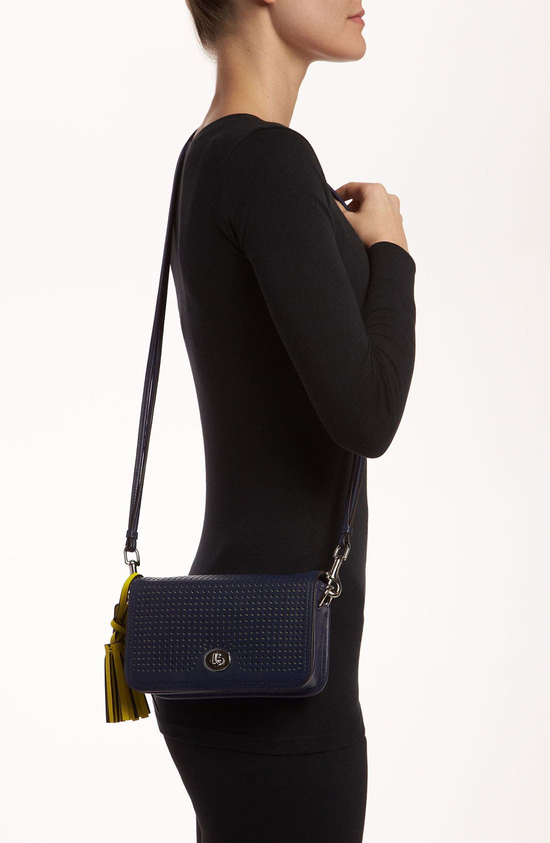 Alternate Image 2  - COACH 'Legacy - Penny' Perforated Leather Crossbody Bag