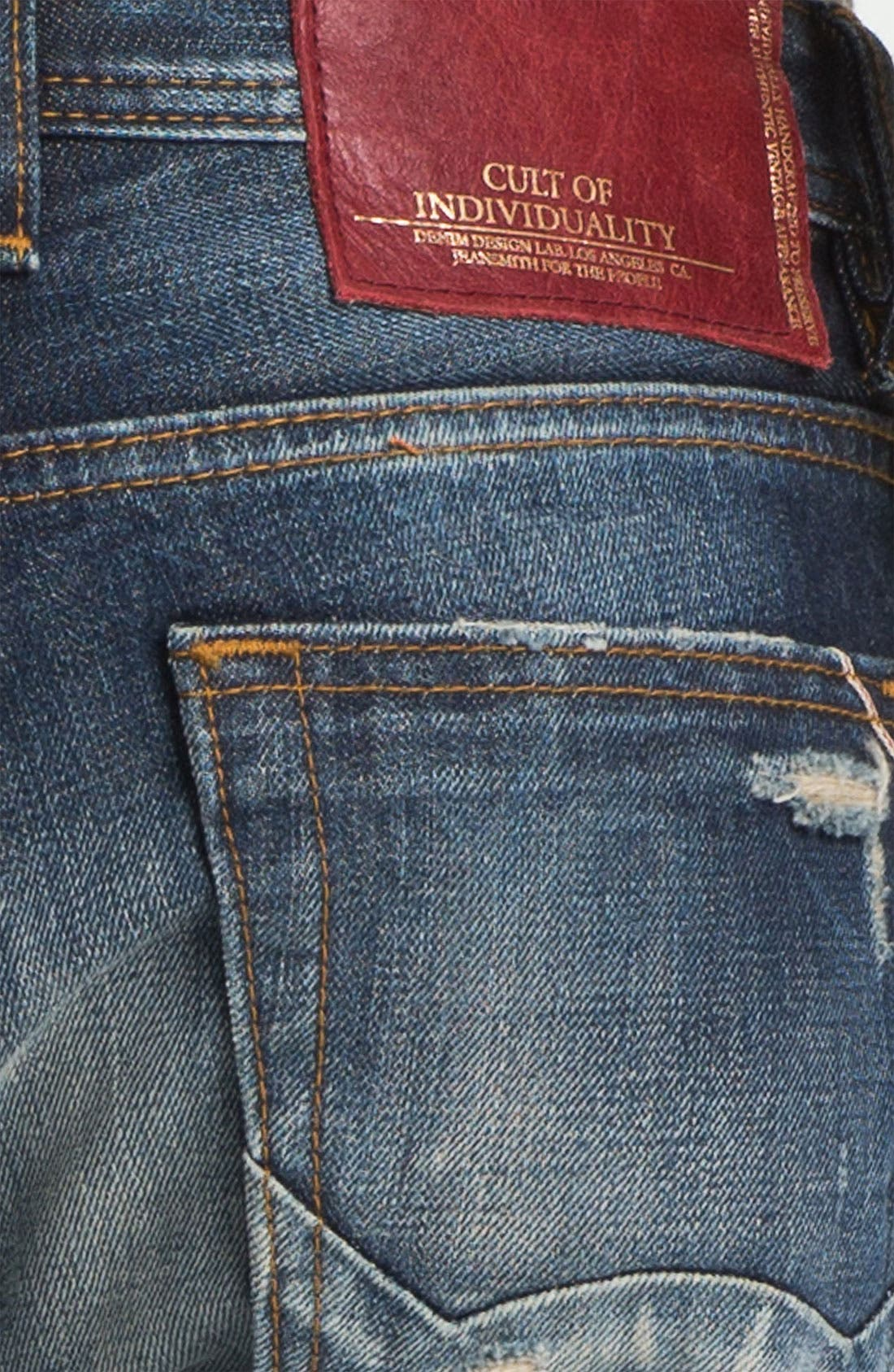 Alternate Image 4  - Cult of Individuality 'Hagen' Relaxed Straight Leg Jeans (15 Year Indigo)