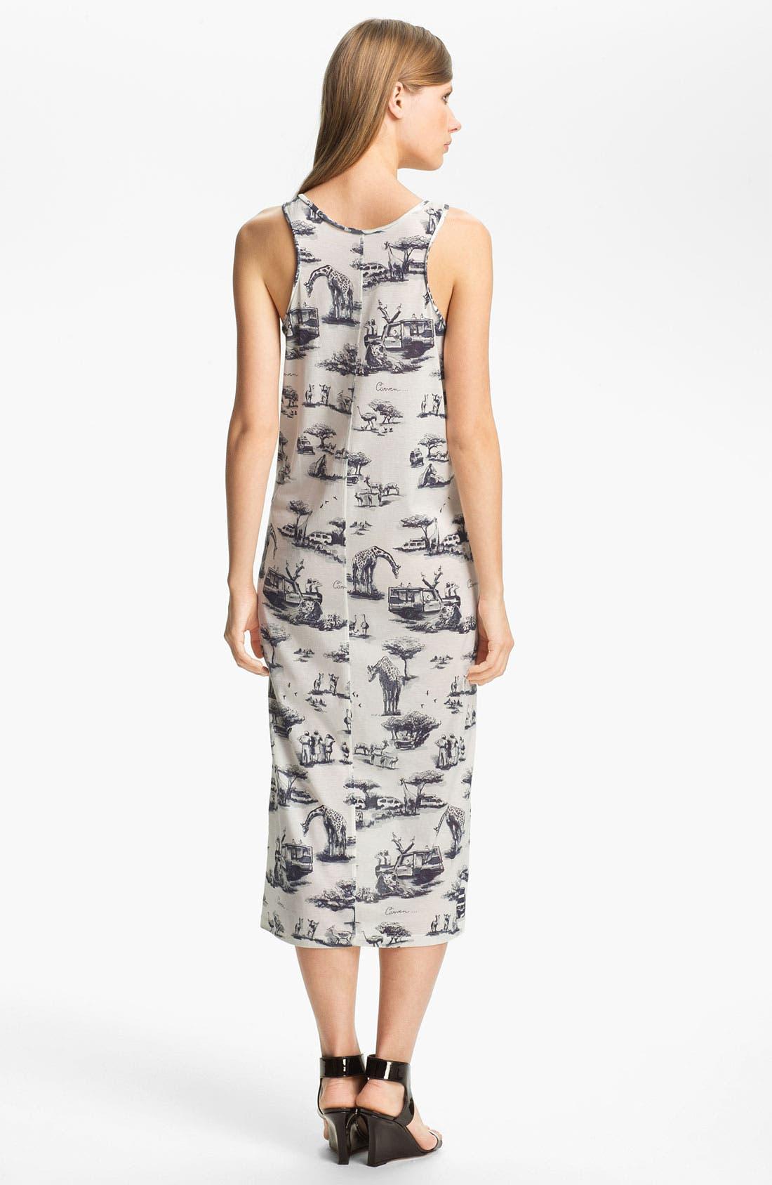 Alternate Image 2  - Carven Safari Print Jersey Column Dress