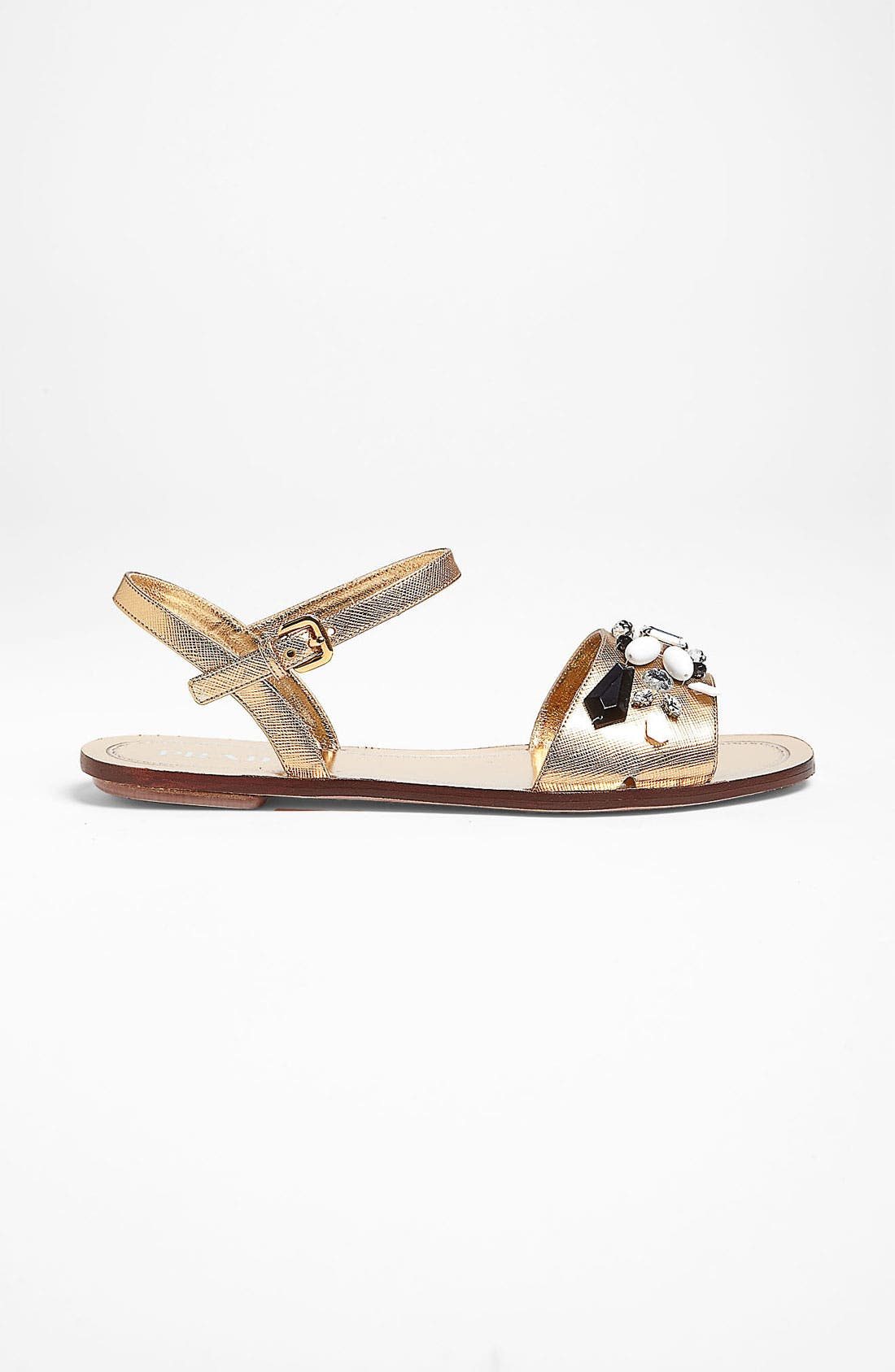 Alternate Image 4  - Prada Beaded Strap Flat Sandal