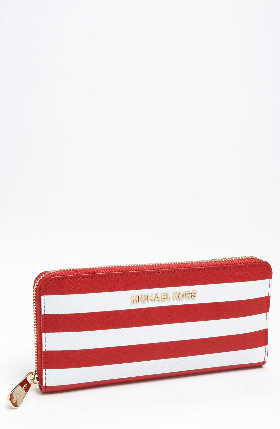Alternate Image 1 Selected - MICHAEL Michael Kors Striped Continental Wallet