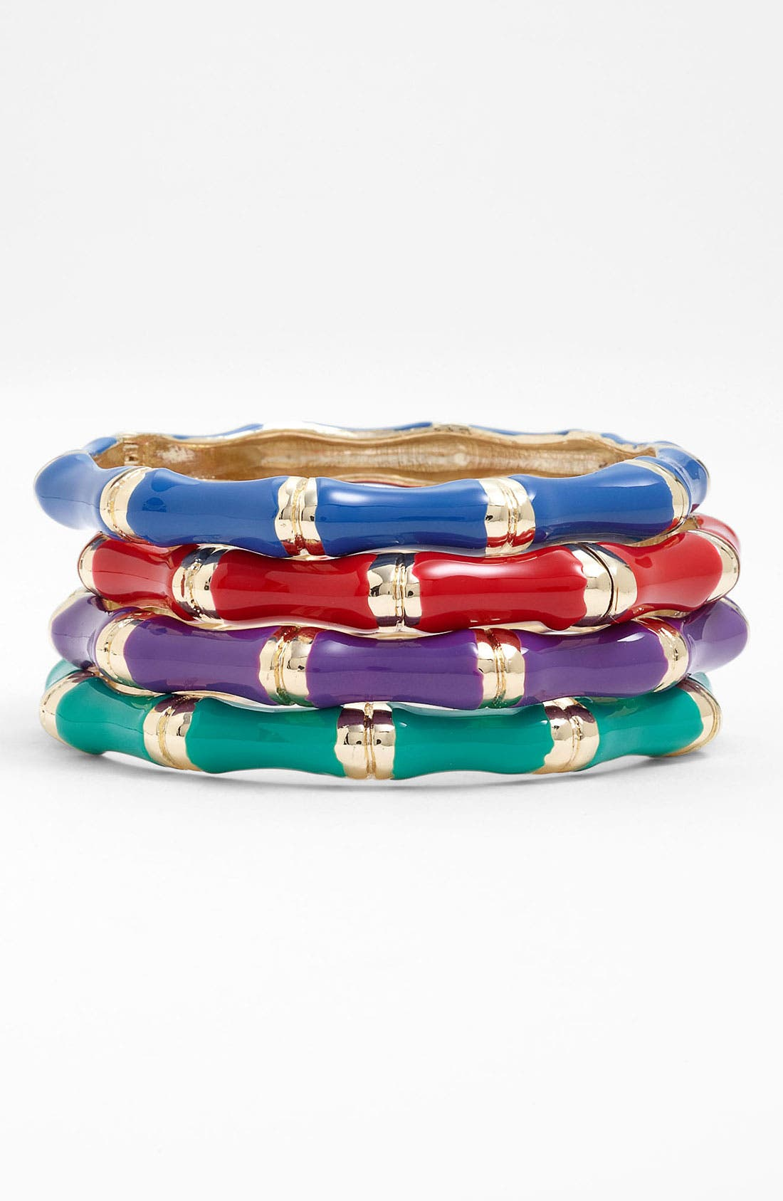 Main Image - Sequin Small Bamboo Enamel Bangle
