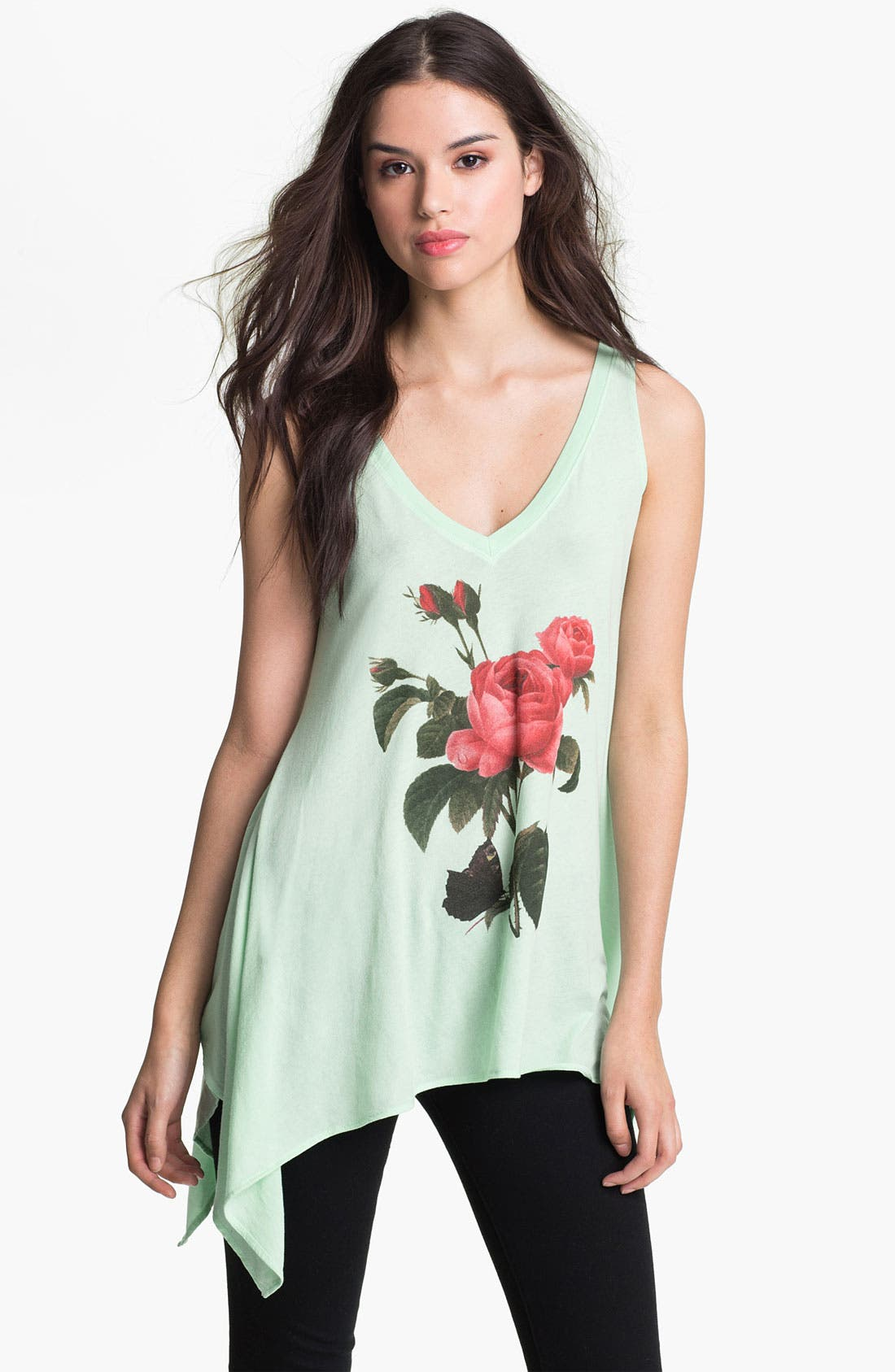 Alternate Image 1 Selected - Wildfox 'Clare' Graphic Cascade Tank