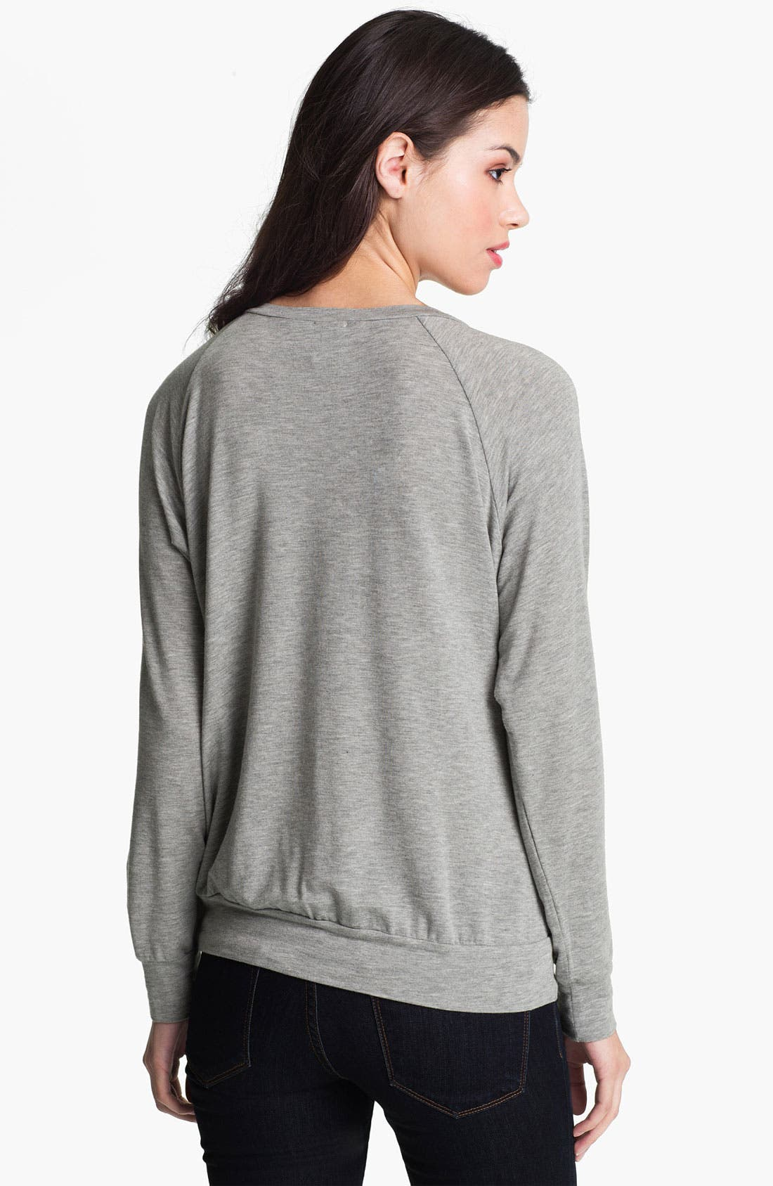 Alternate Image 2  - Ella Moss Lace Front Sweatshirt