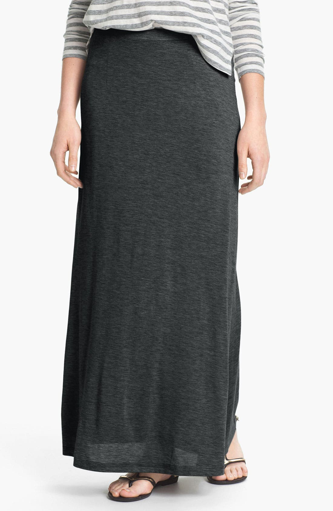 Alternate Image 1 Selected - Eileen Fisher Silk & Cotton Jersey Maxi Skirt