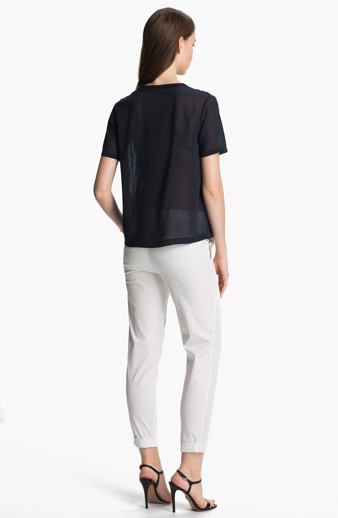 Alternate Image 5  - Vince Pocket Silk Tee