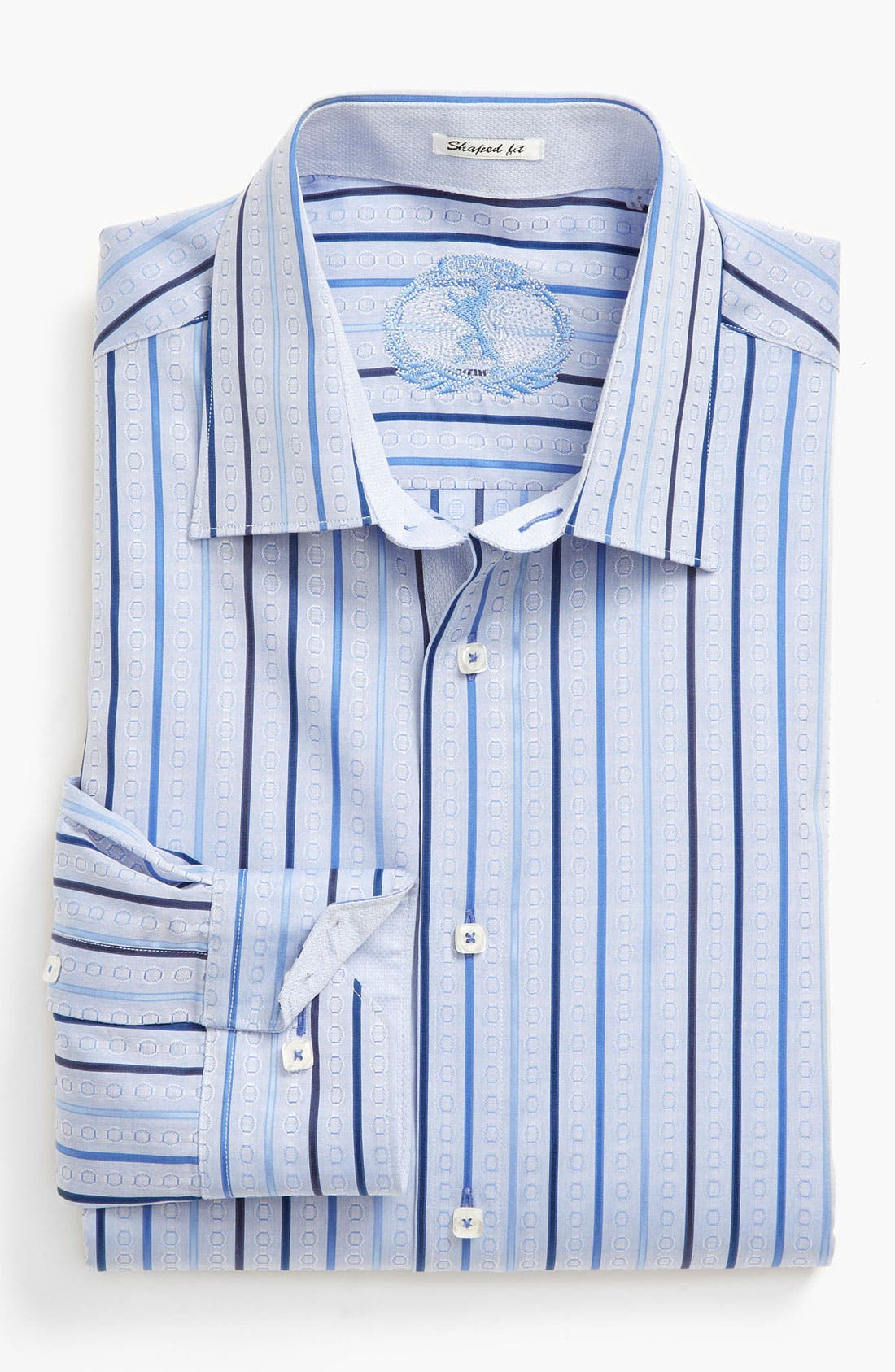 Alternate Image 2  - BUGATCHI Shaped Fit Sport Shirt
