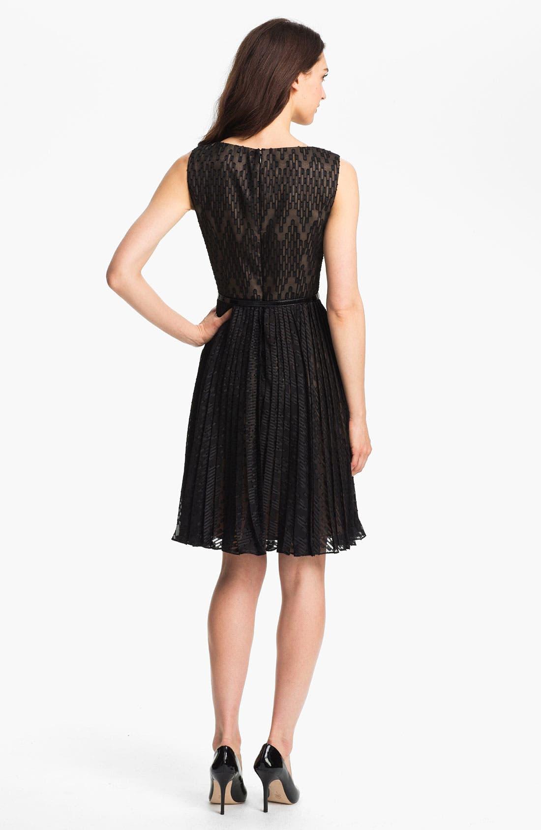 Alternate Image 2  - Adrianna Papell Textured Fit & Flare Dress (Regular & Petite)