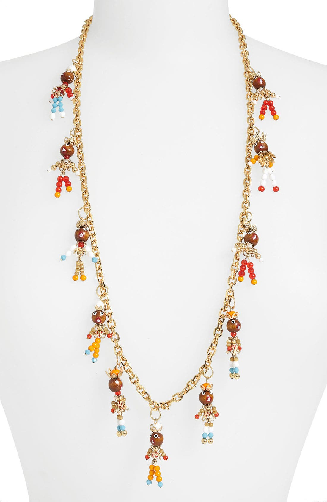 Alternate Image 2  - Tory Burch Long Charm Station Necklace
