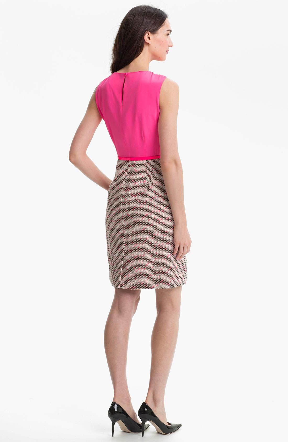 Alternate Image 2  - kate spade new york 'evelyn' silk & tweed sheath dress