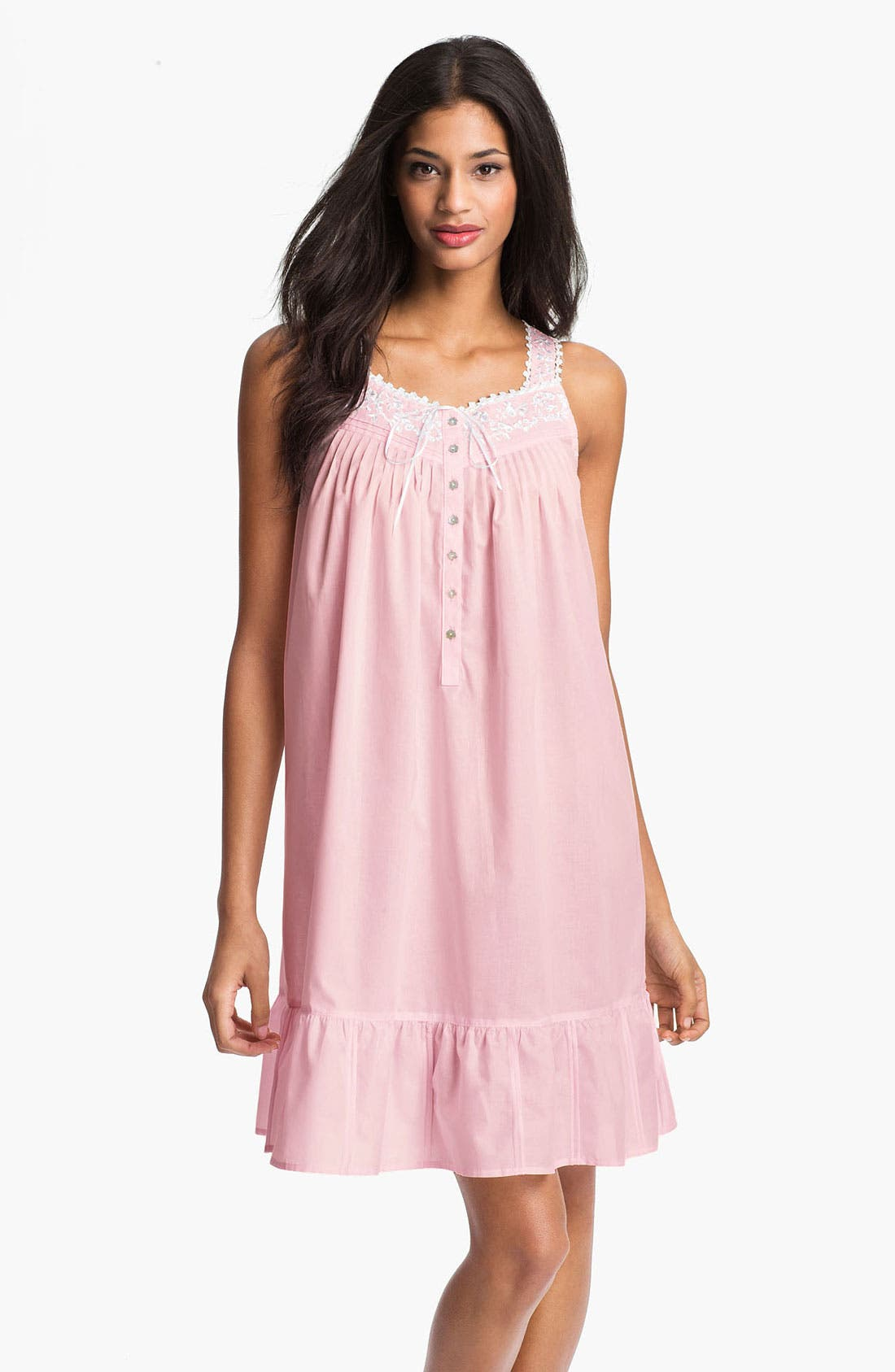 Main Image - Eileen West 'Enchanted Forest' Short Sleeveless Nightgown
