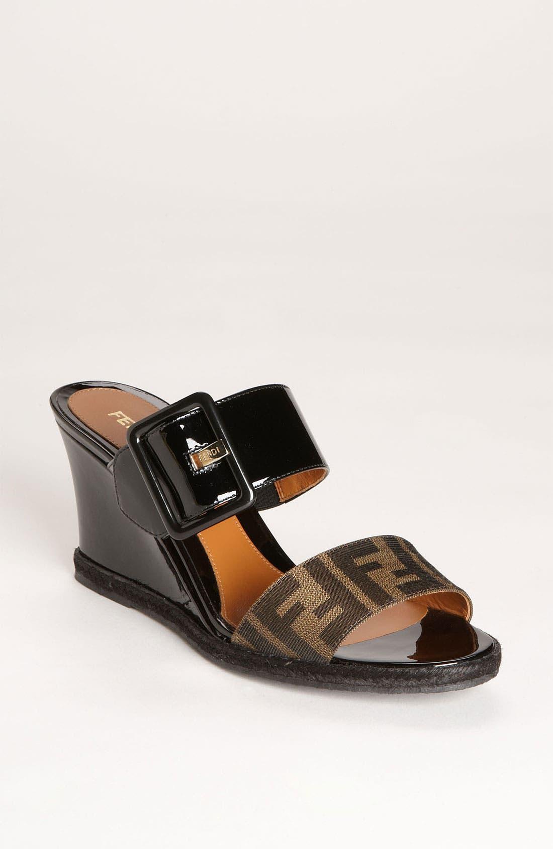 Alternate Image 1 Selected - Fendi 'Vernis' Wedge Sandal (Women)