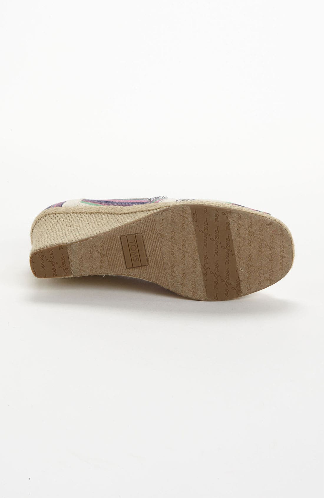 Alternate Image 4  - TOMS 'Village Stripe' Wedge