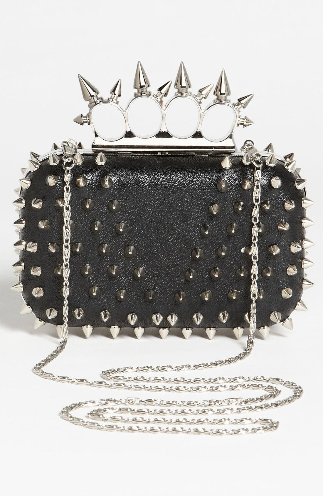 Alternate Image 4  - Natasha Couture 'Small' Spiked Clutch