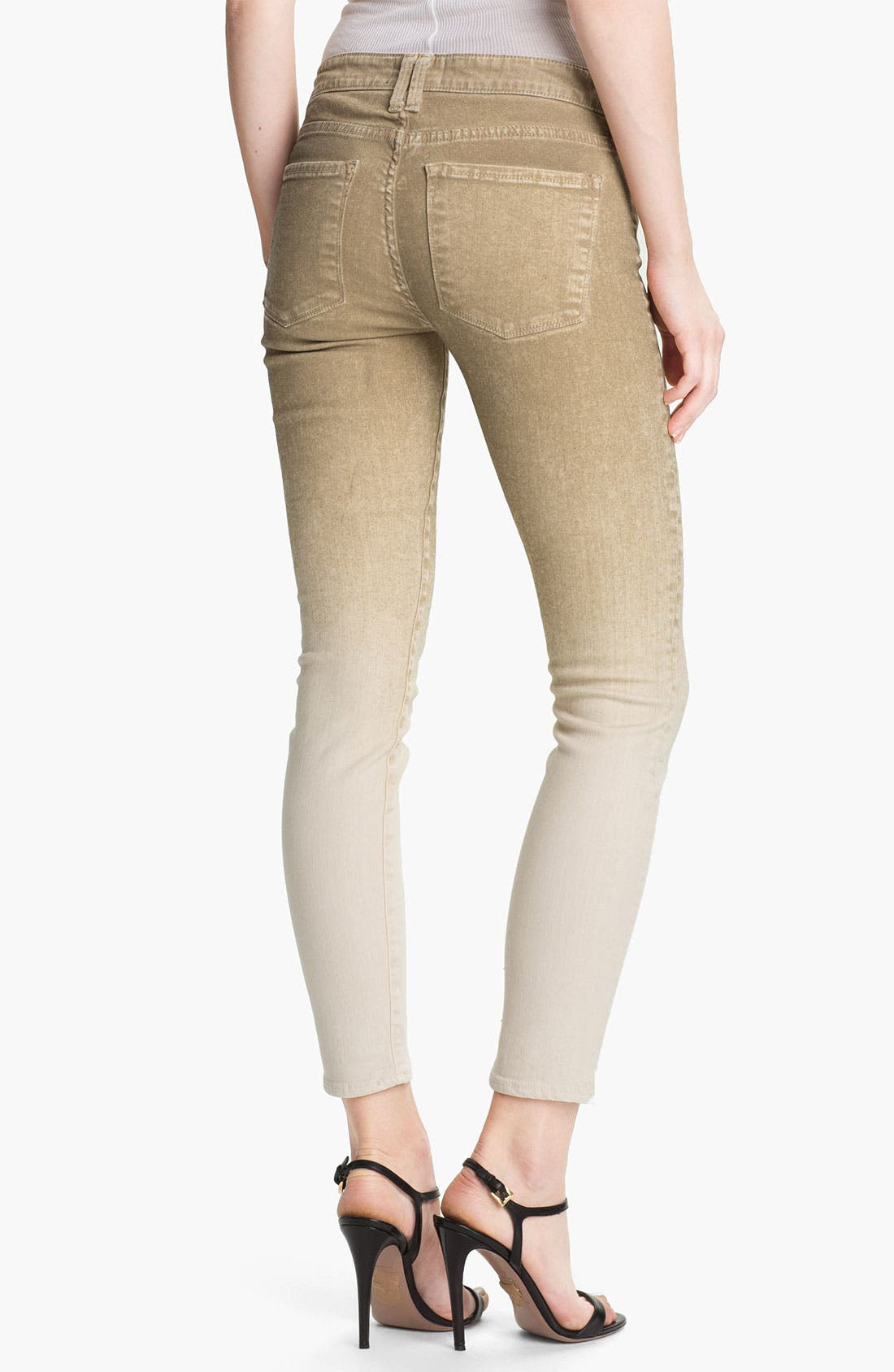 Alternate Image 2  - Vince Colored Skinny Stretch Ankle Jeans (Khaki)
