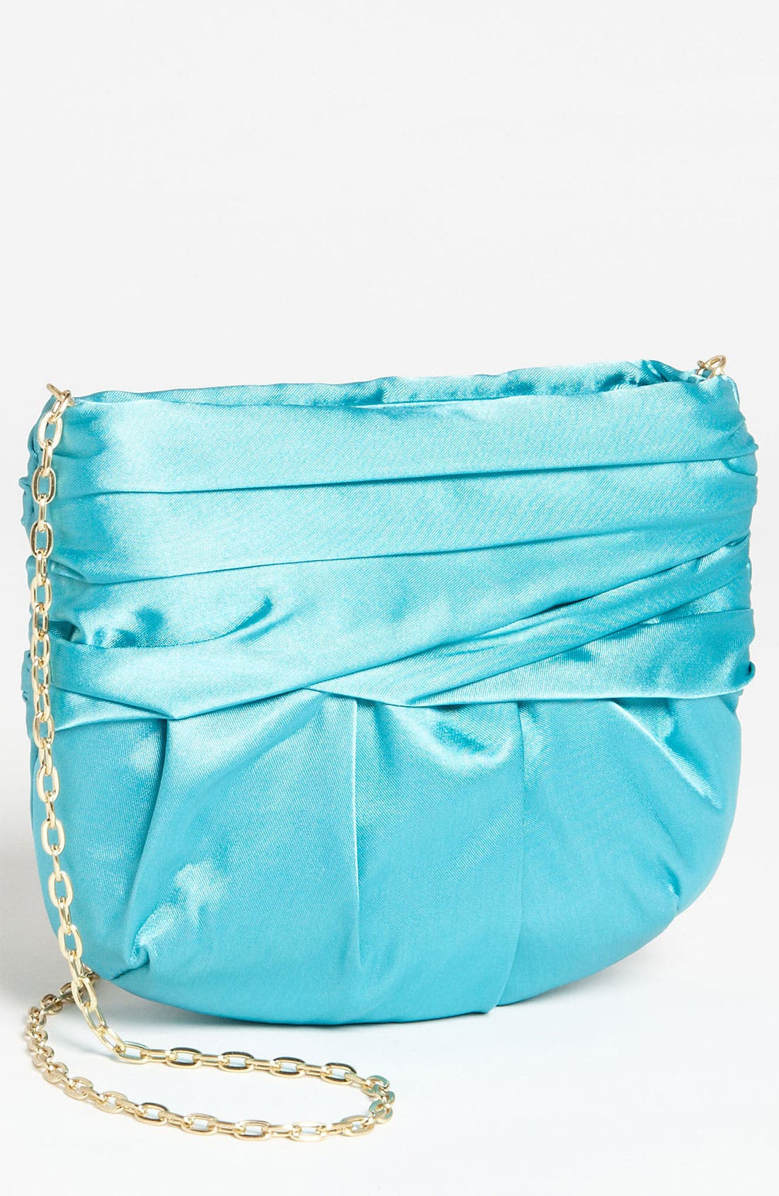 Main Image - Glint Pleated Satin Clutch