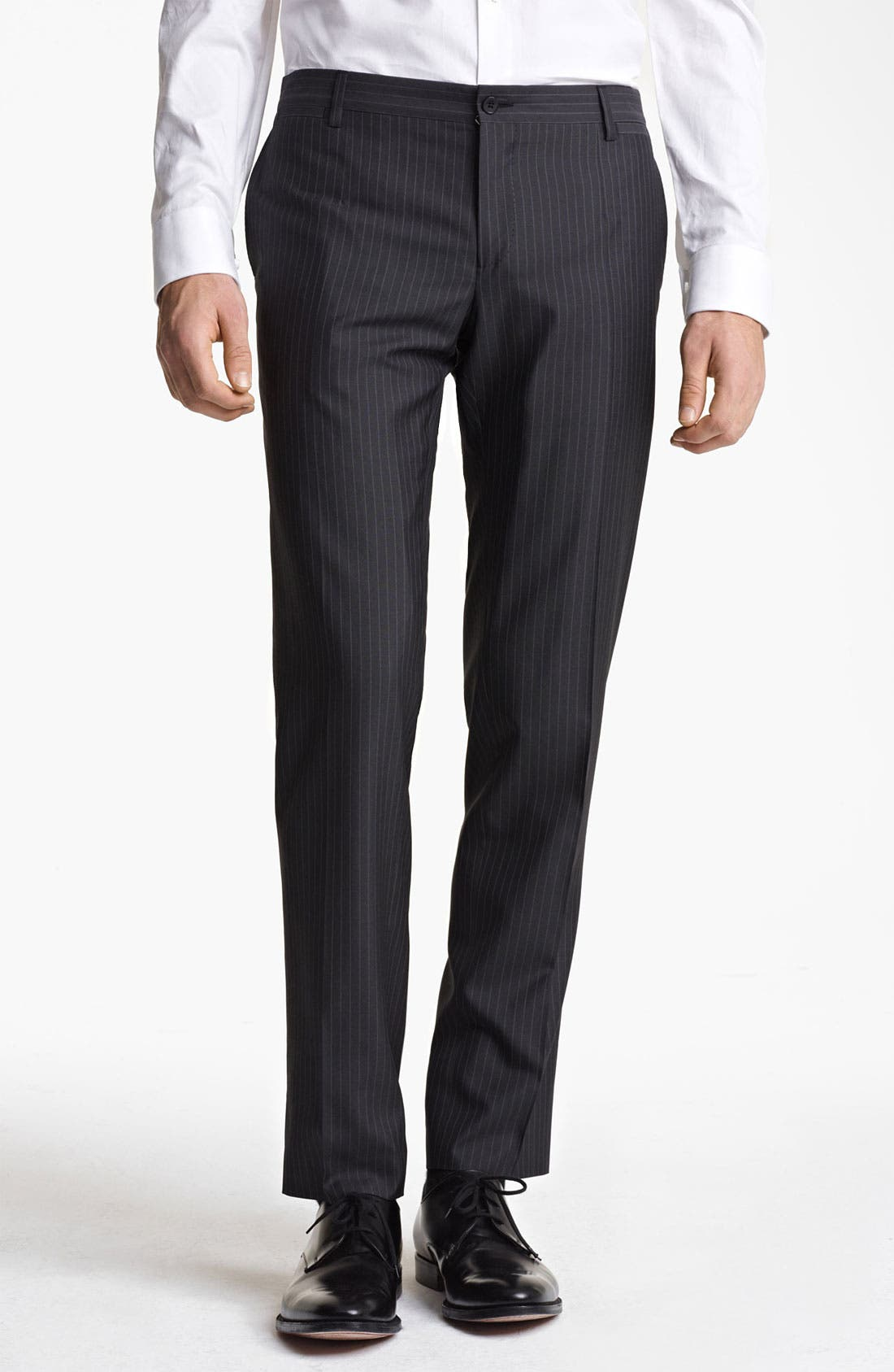 Alternate Image 5  - Dolce&Gabbana Pinstripe Wool & Silk Suit