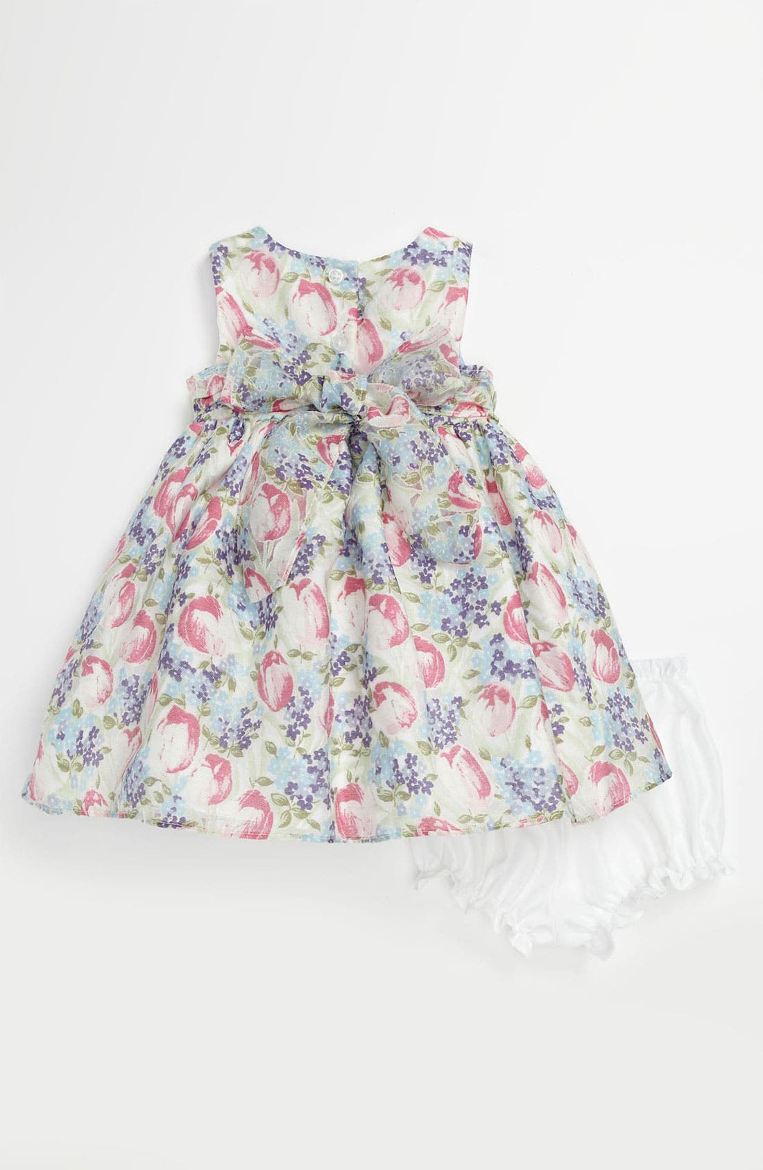 Alternate Image 2  - Pippa & Julie Burnout Tulip Dress & Bloomers (Baby Girls)