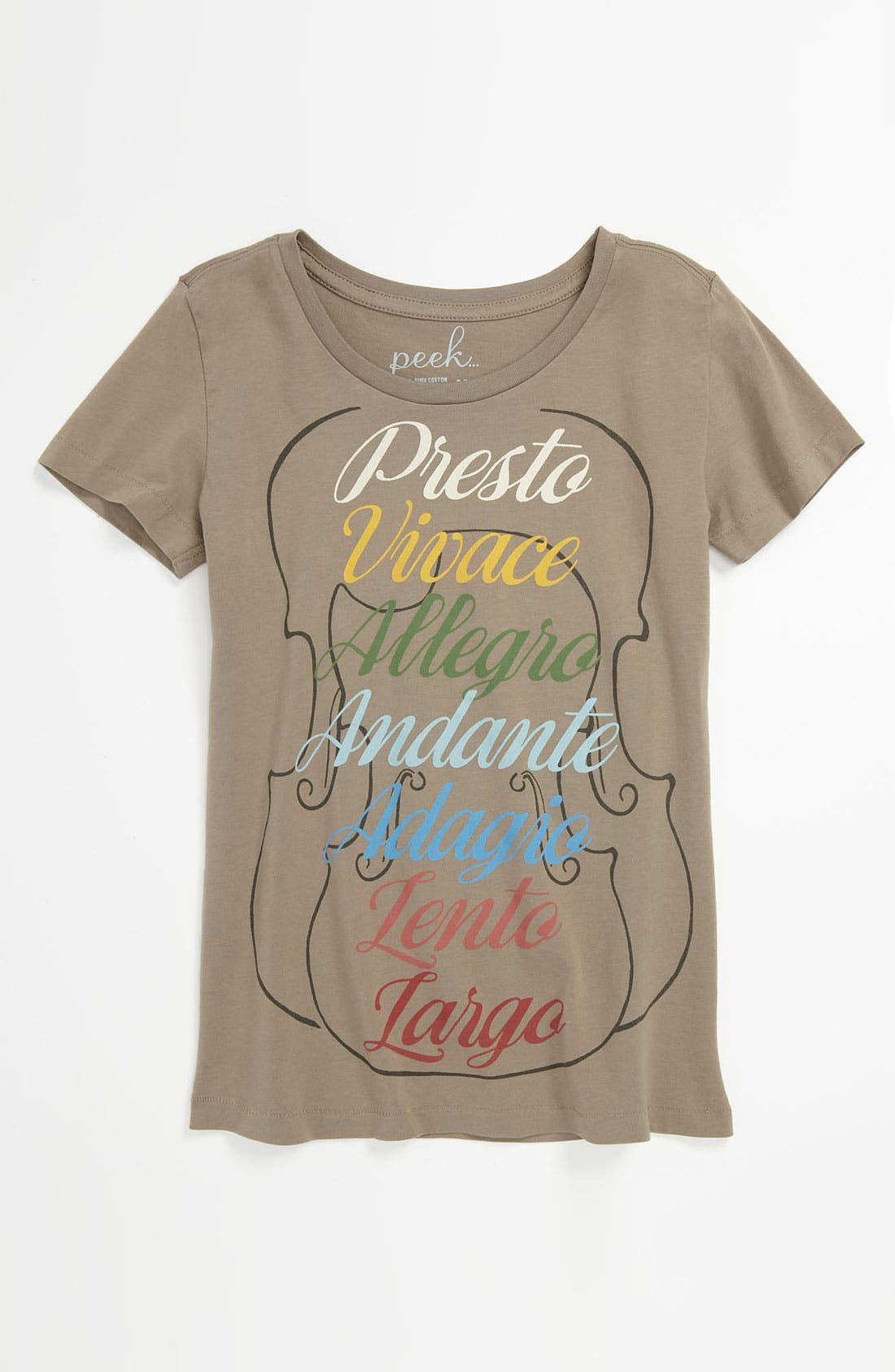 Main Image - Peek 'Tempo' Tee (Toddler, Little Girls & Big Girls)