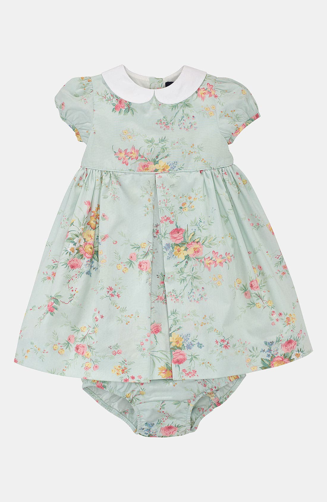 Main Image - Ralph Lauren Floral Dress & Bloomers (Infant)