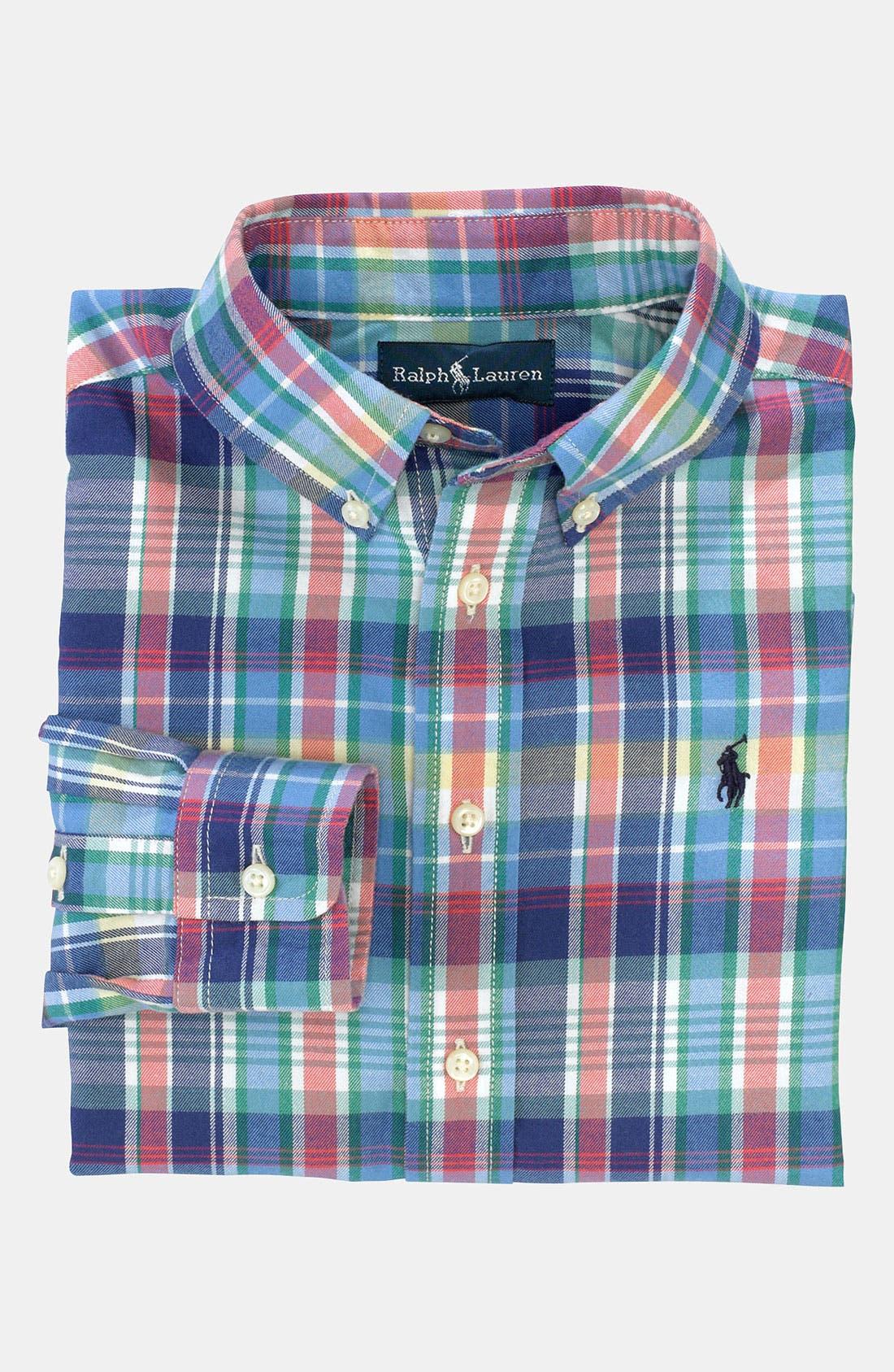 Main Image - Ralph Lauren Woven Shirt (Toddler)