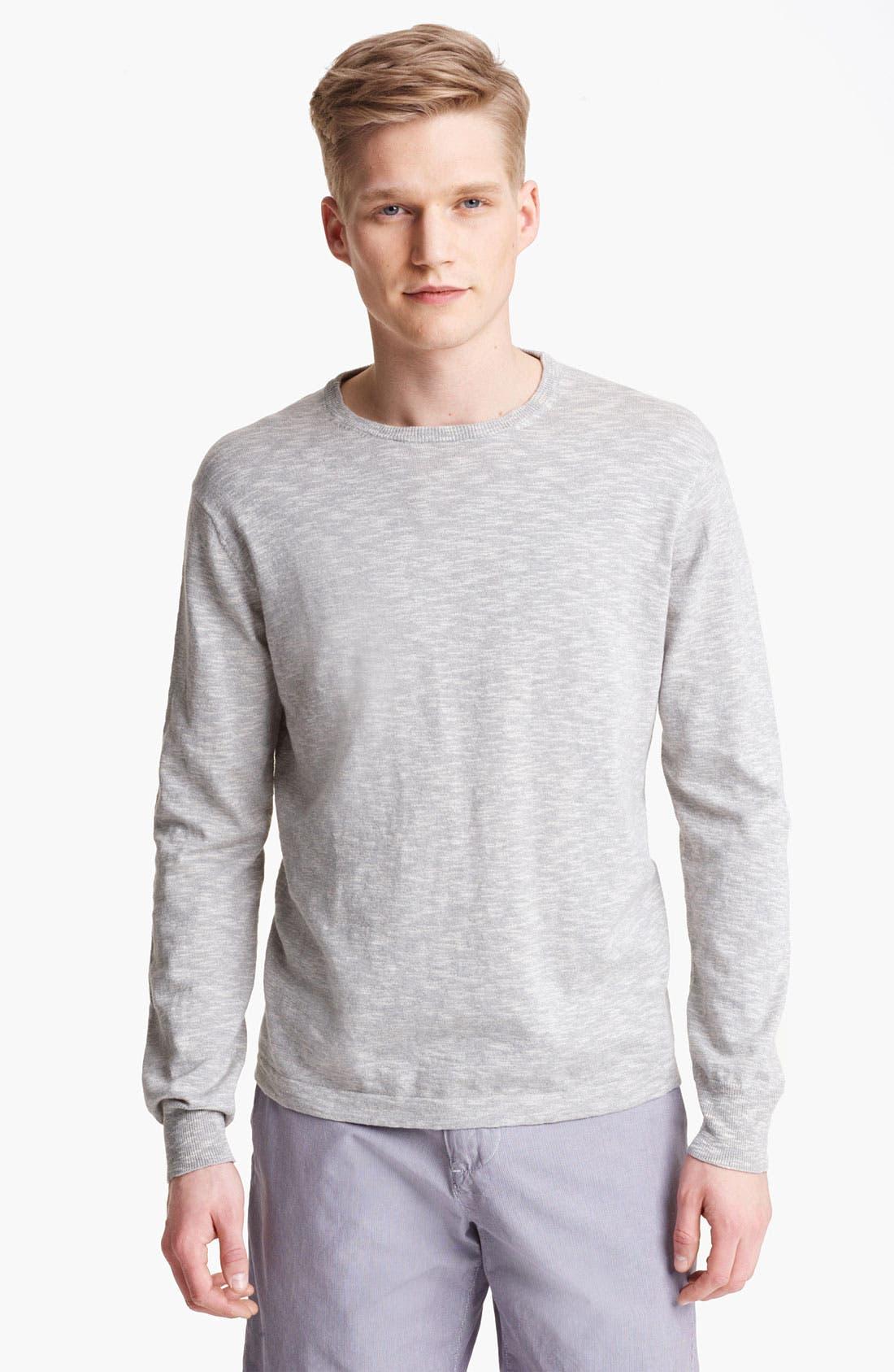 Main Image - Save Khaki Slub Knit Sweater