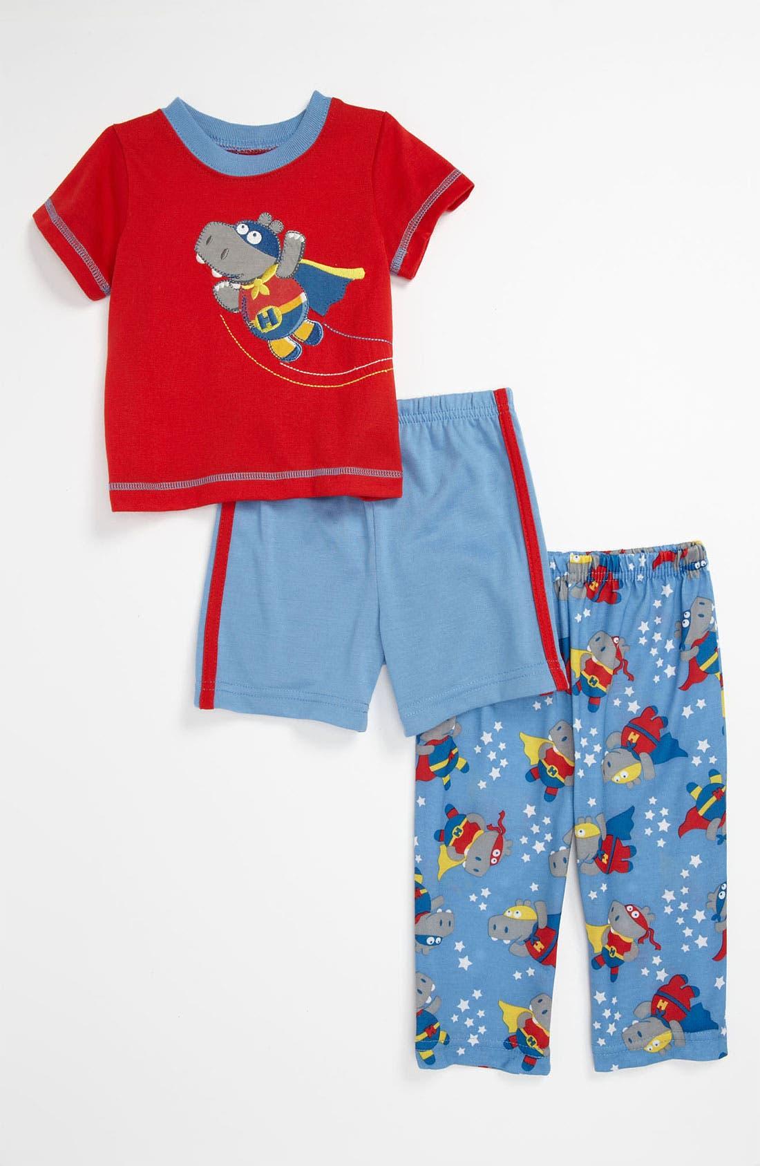 Alternate Image 1 Selected - Little Me 'Hippo' Sleepwear Set (Infant)