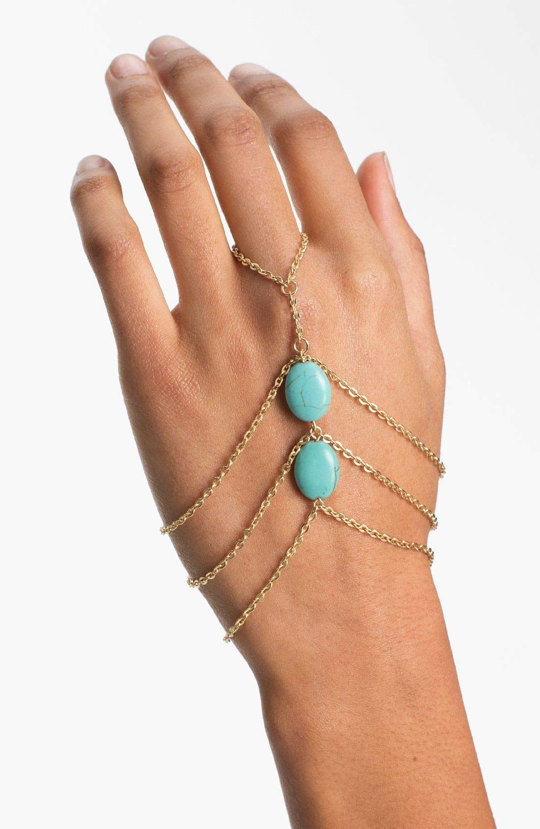 Main Image - Carole Turquoise Hand Chain