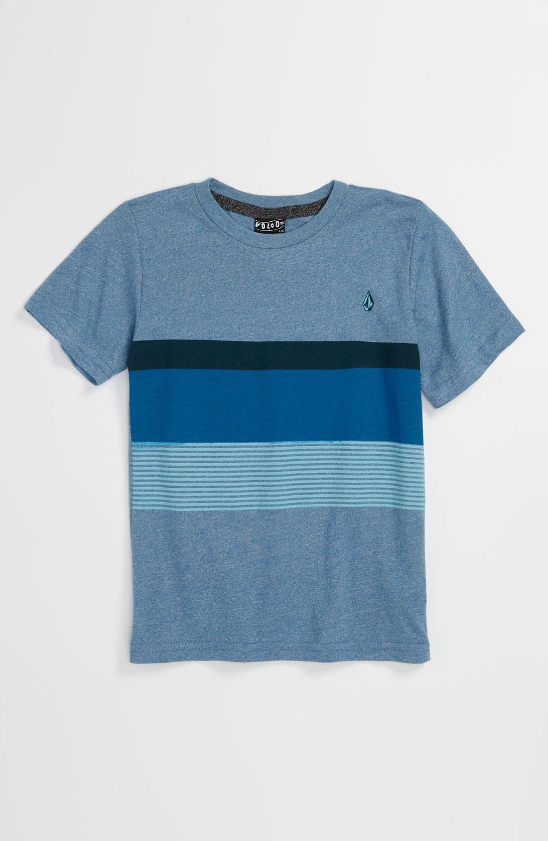 Alternate Image 1 Selected - Volcom 'No Filler' Stripe T-Shirt (Big Boys)