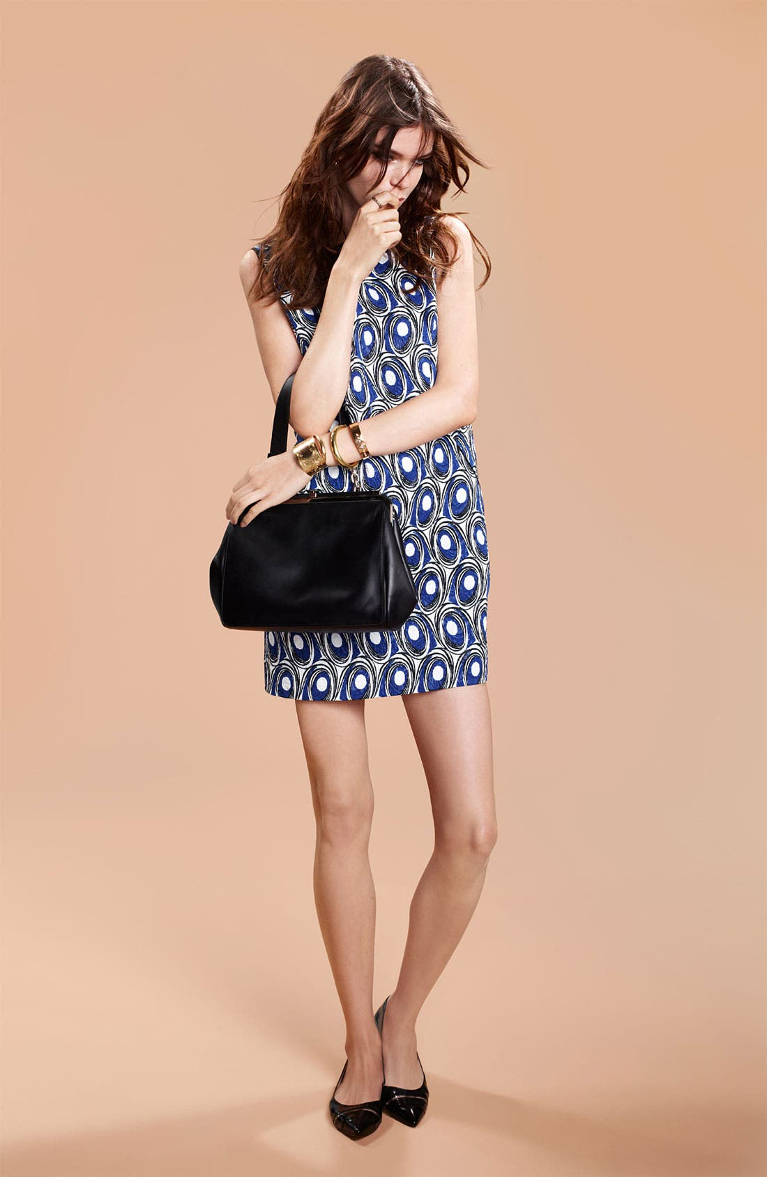 Alternate Image 4  - Miss Wu Abstract Print Jacquard Dress (Nordstrom Exclusive)