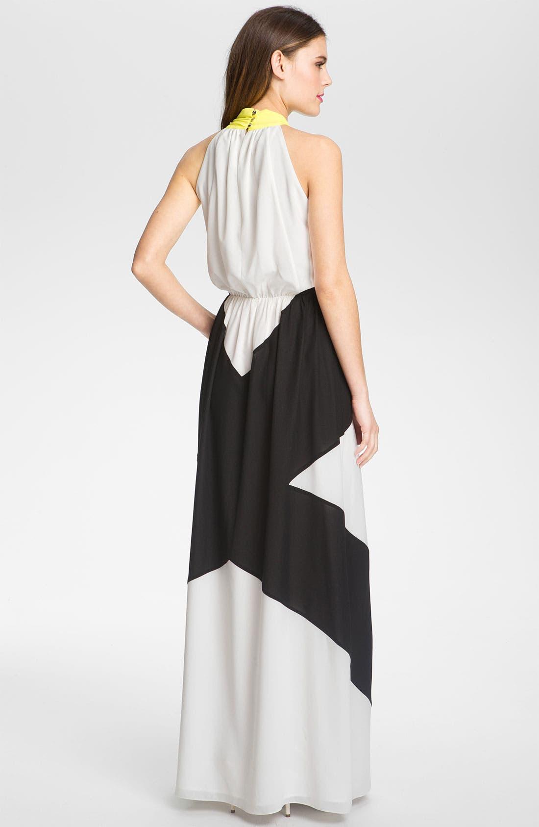 Alternate Image 2  - Vince Camuto Colorblocked Chiffon Maxi Dress