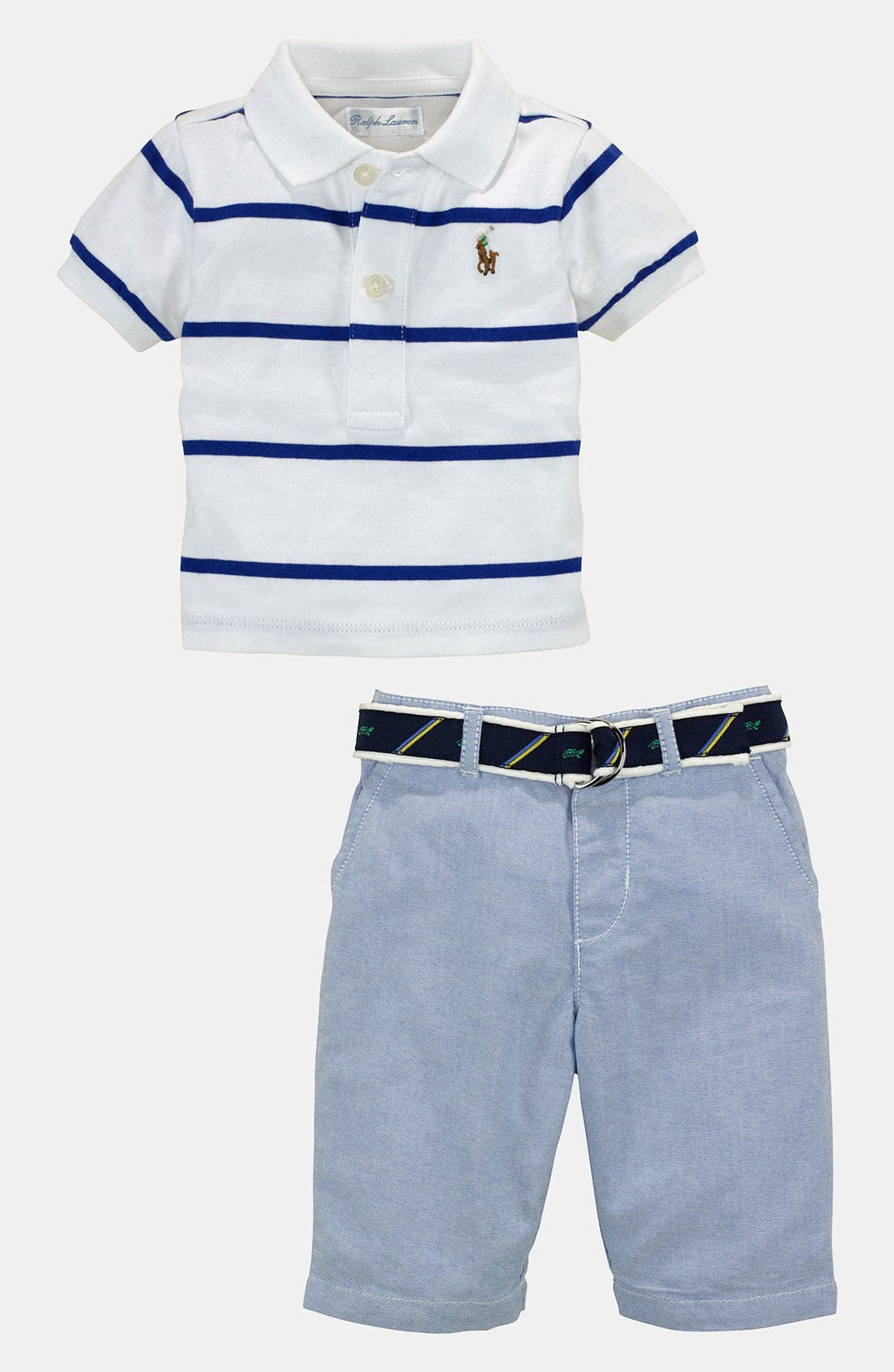 Alternate Image 1 Selected - Ralph Lauren Polo & Pants (Baby)