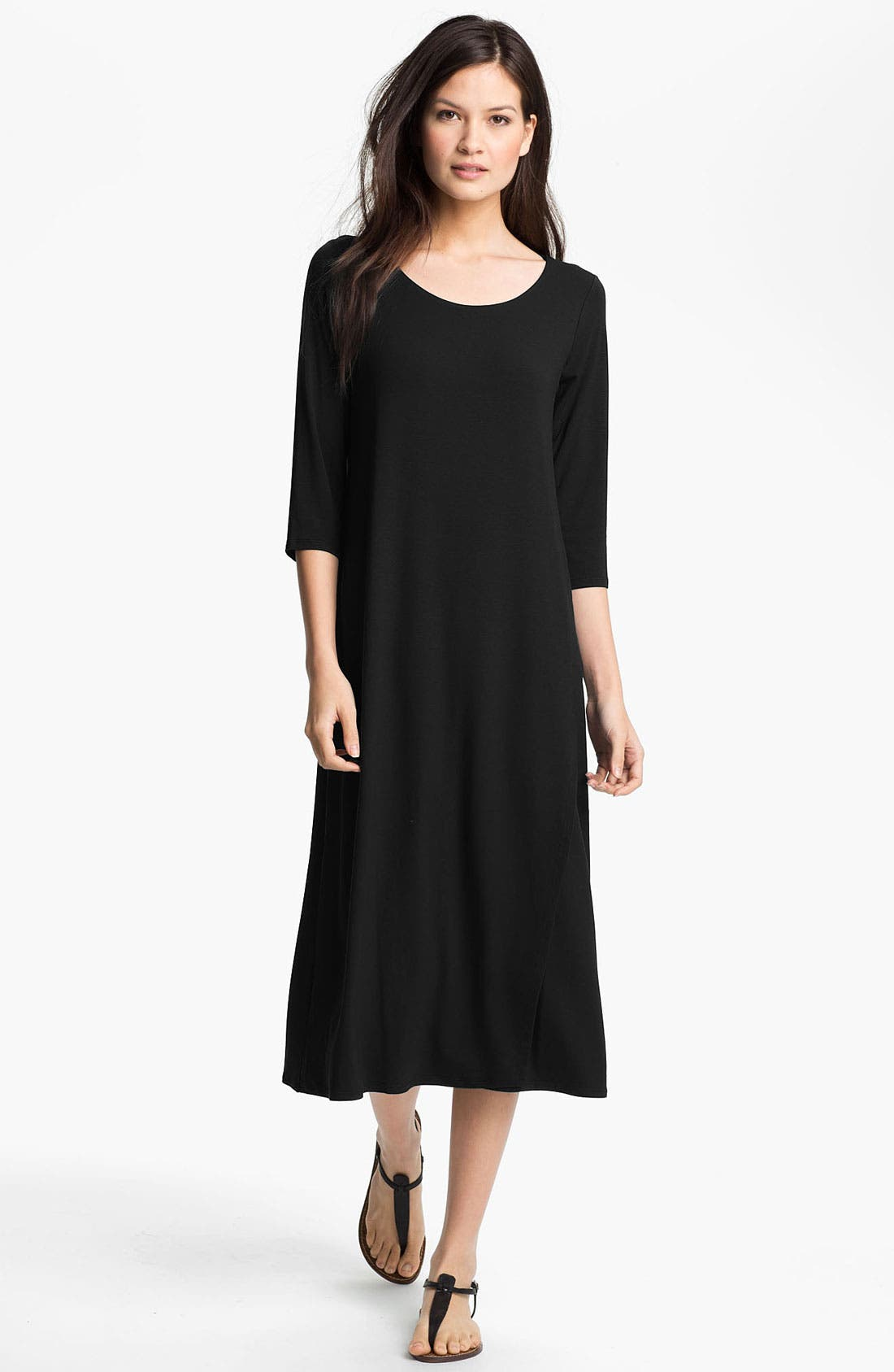 Alternate Image 1 Selected - Eileen Fisher Matte Jersey Dress