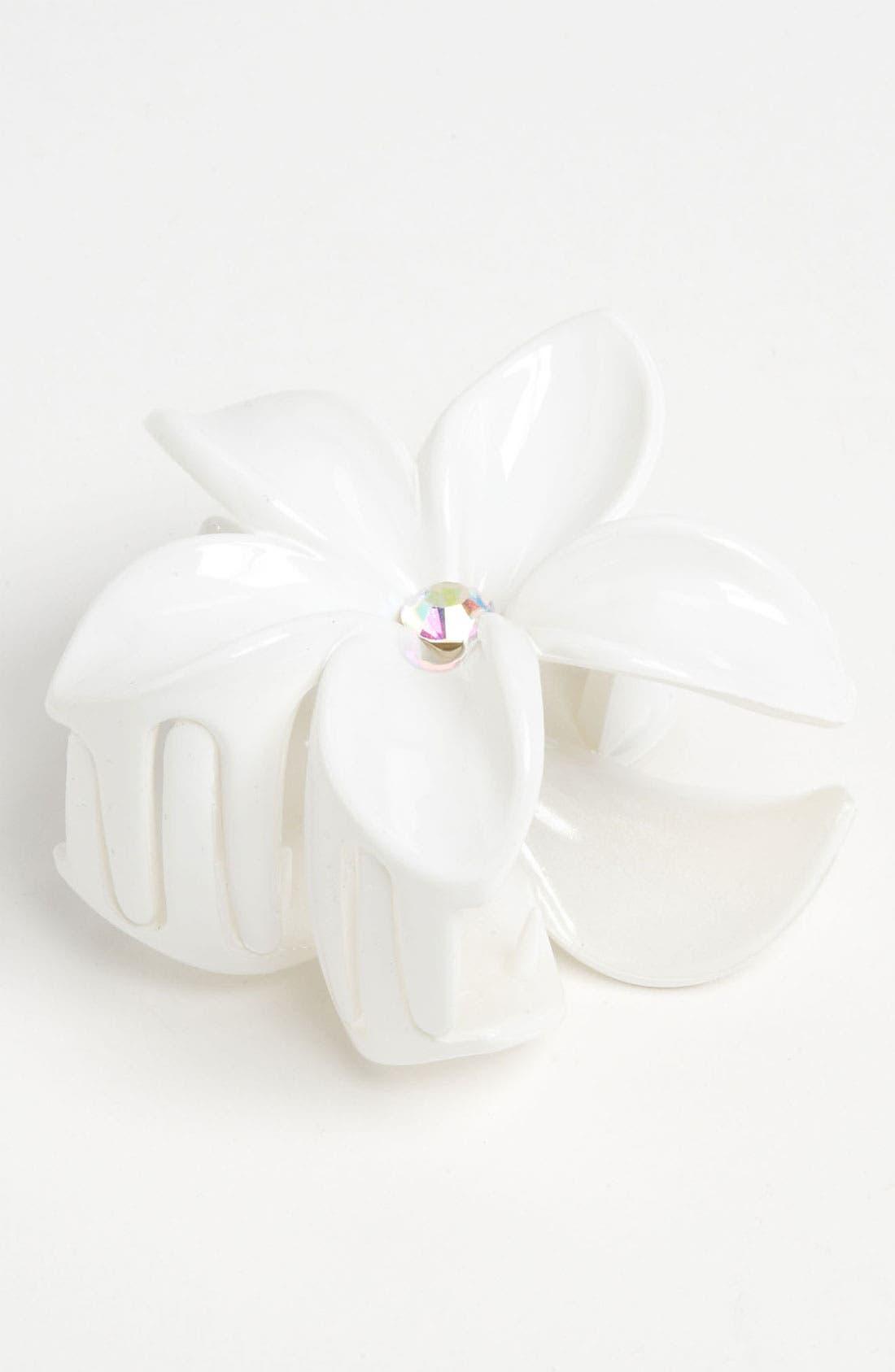 Main Image - Cara Flower Jaw Hair Clip