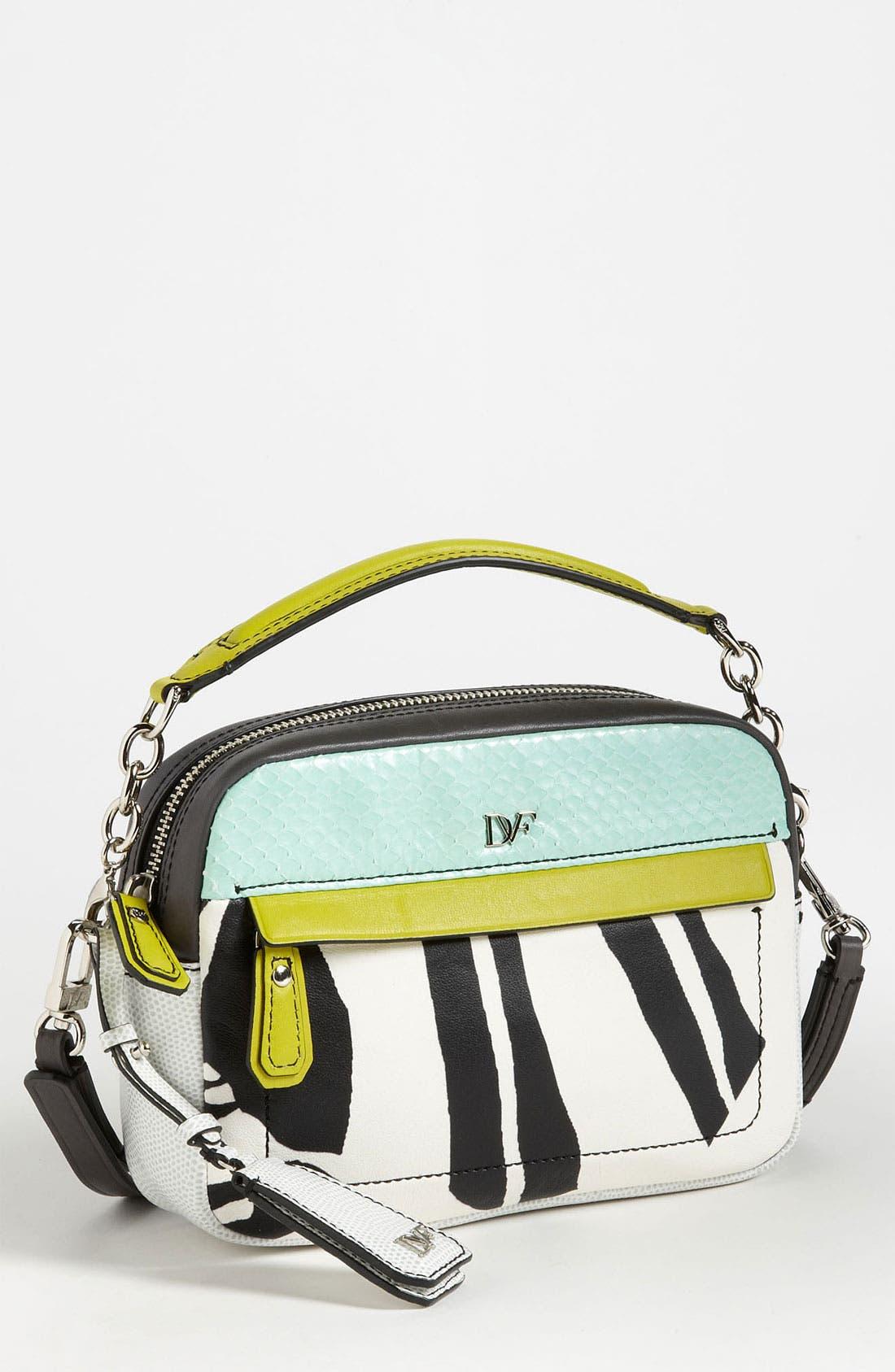 Main Image - Diane von Furstenberg 'Milo - Mini' Printed Leather Crossbody Bag