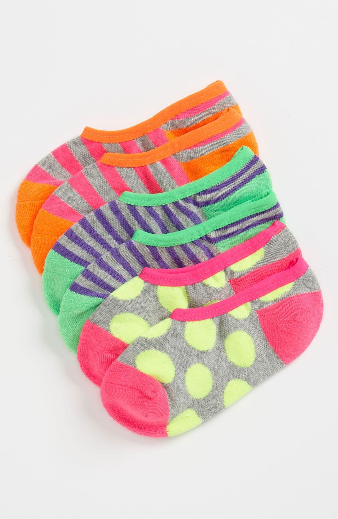 Alternate Image 1 Selected - Nordstrom Liner Socks (3-Pack) (Little Kids)