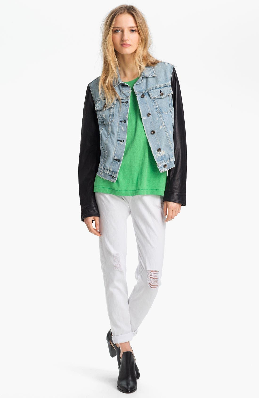 Alternate Image 3  - rag & bone/JEAN 'The Dash' Slouchy Skinny Jeans