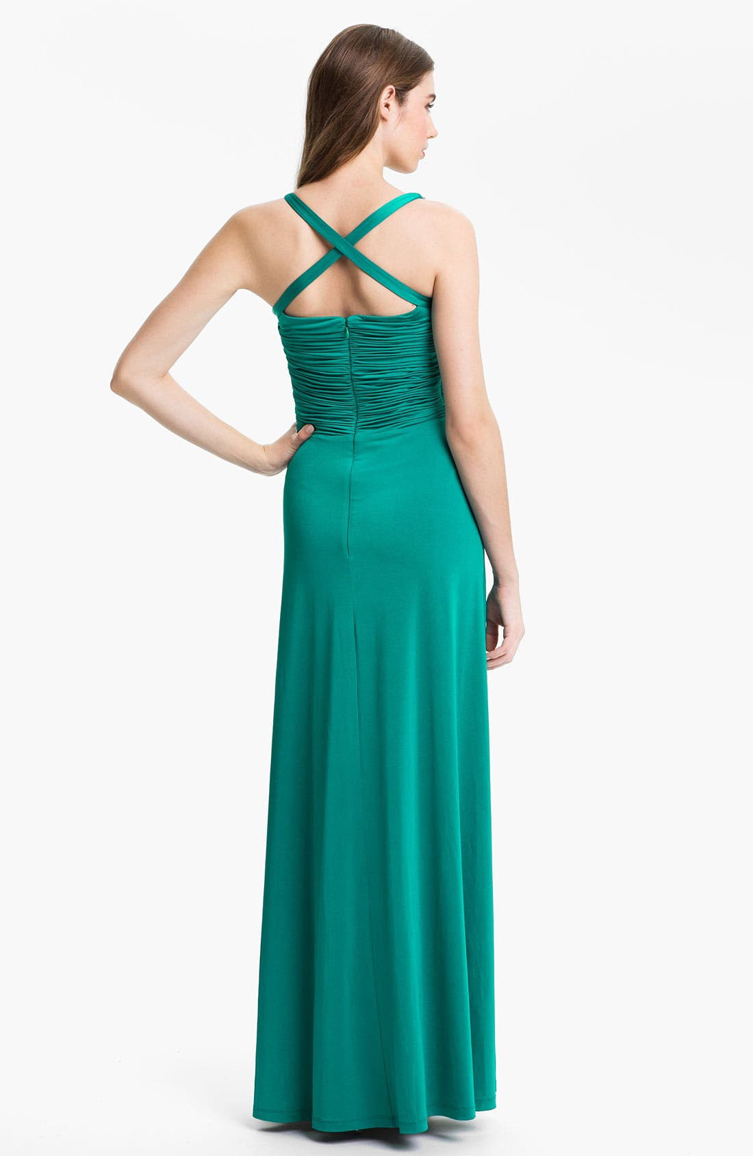 Alternate Image 2  - Calvin Klein Embellished Charmeuse Gown