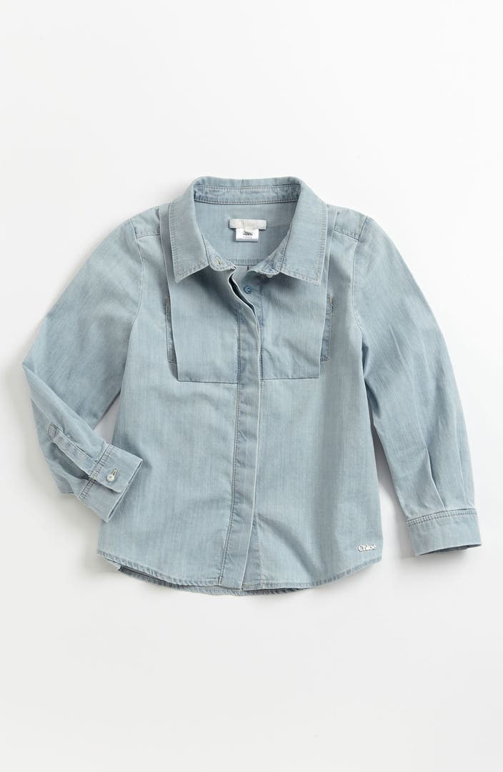 chlo chambray shirt little girls big girls nordstrom