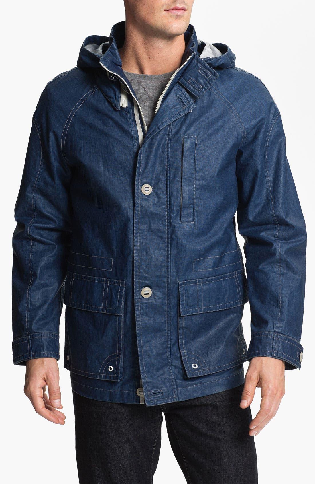 Main Image - RAINFOREST Coated Linen Blend Jacket