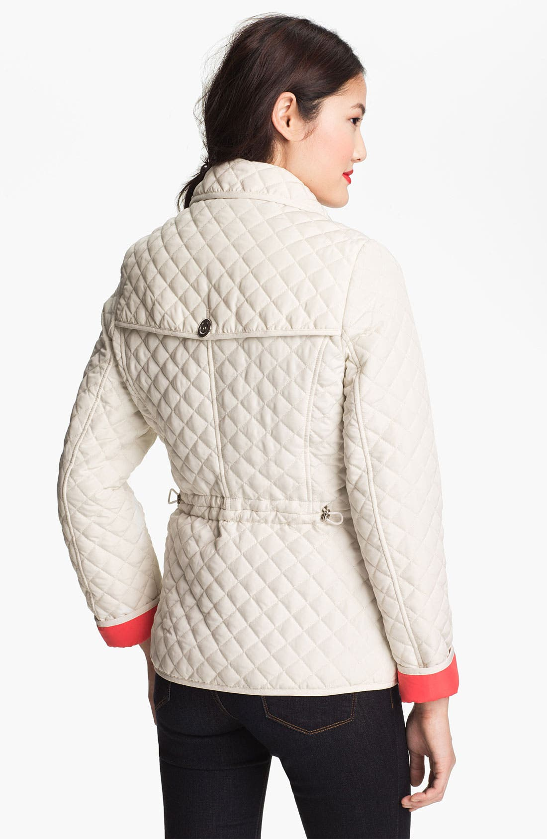 Alternate Image 2  - Weatherproof® Contrast Cuff Quilted Jacket (Online Only)