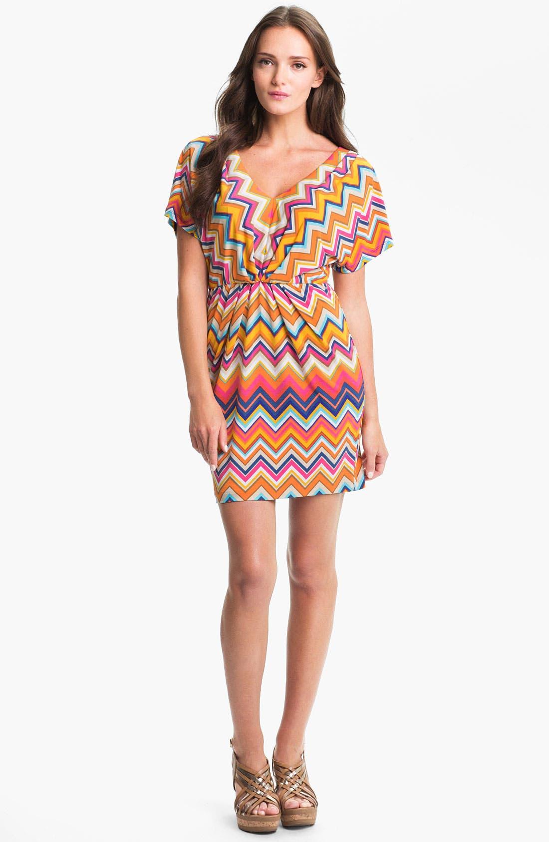 Alternate Image 1 Selected - Trina Turk 'Mini Break' Stripe Jersey Dress