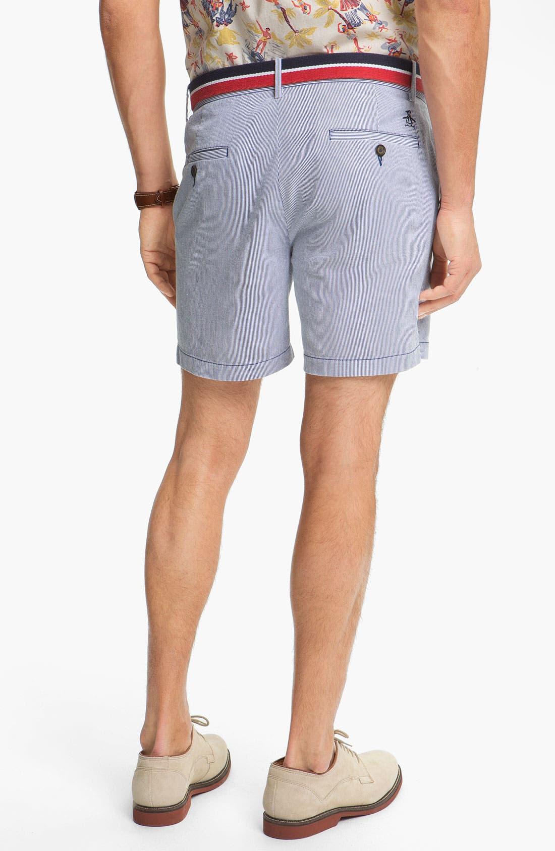 Alternate Image 4  - Original Penguin Stripe Pincord Shorts
