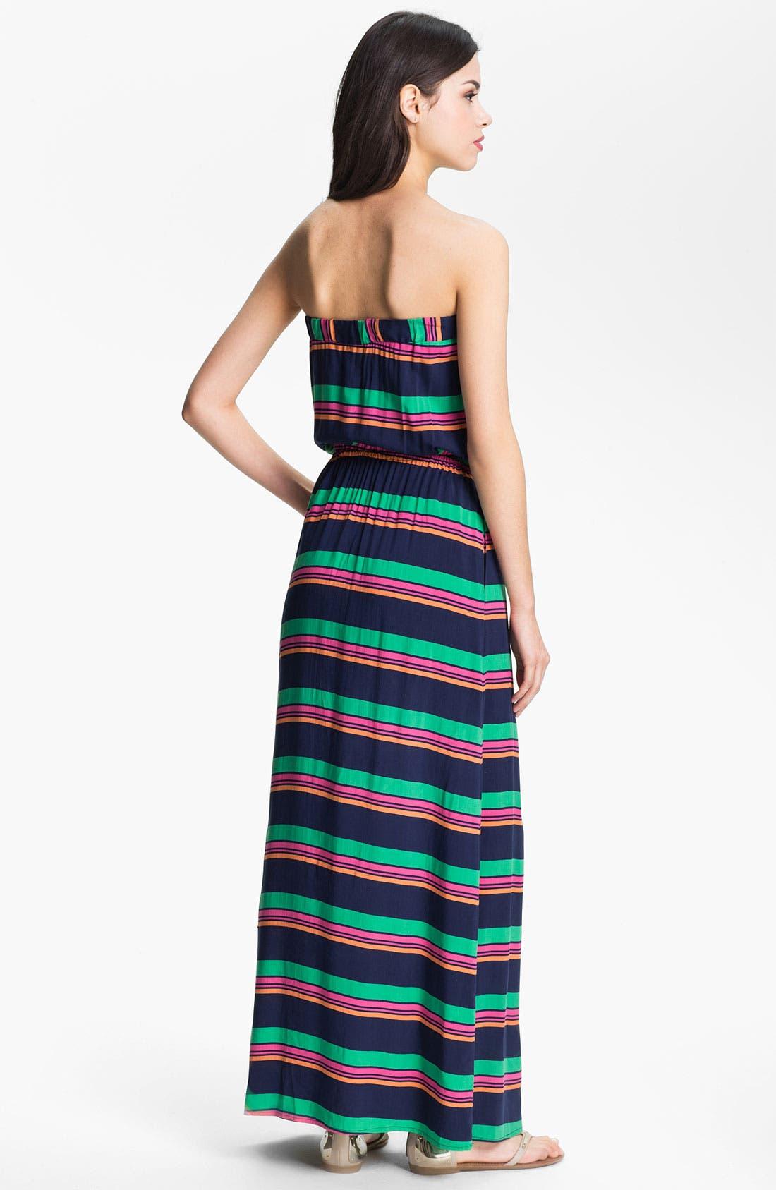 Alternate Image 2  - Splendid Stripe Strapless Maxi Dress