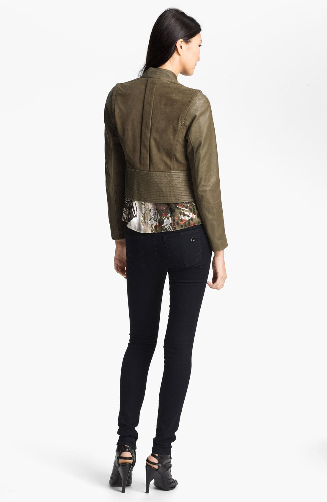 Alternate Image 5  - Edun Double Breasted Leather & Suede Jacket