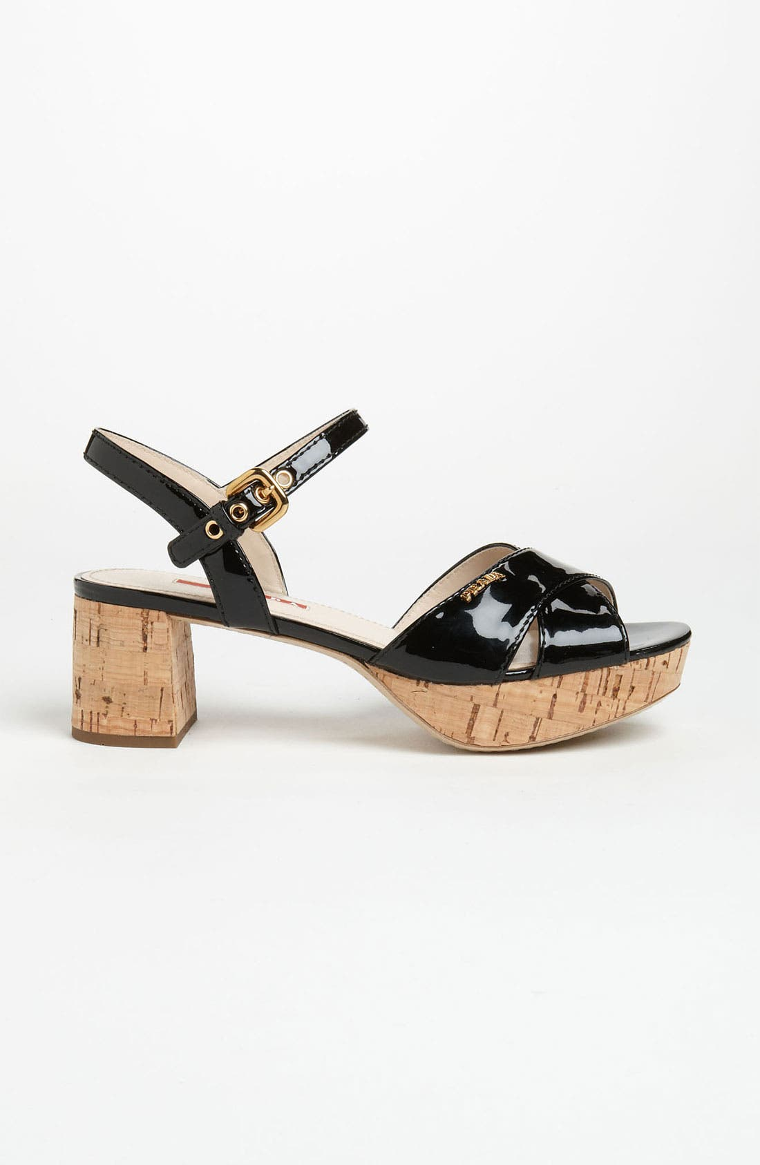 Alternate Image 4  - Prada Cork Heel Sandal
