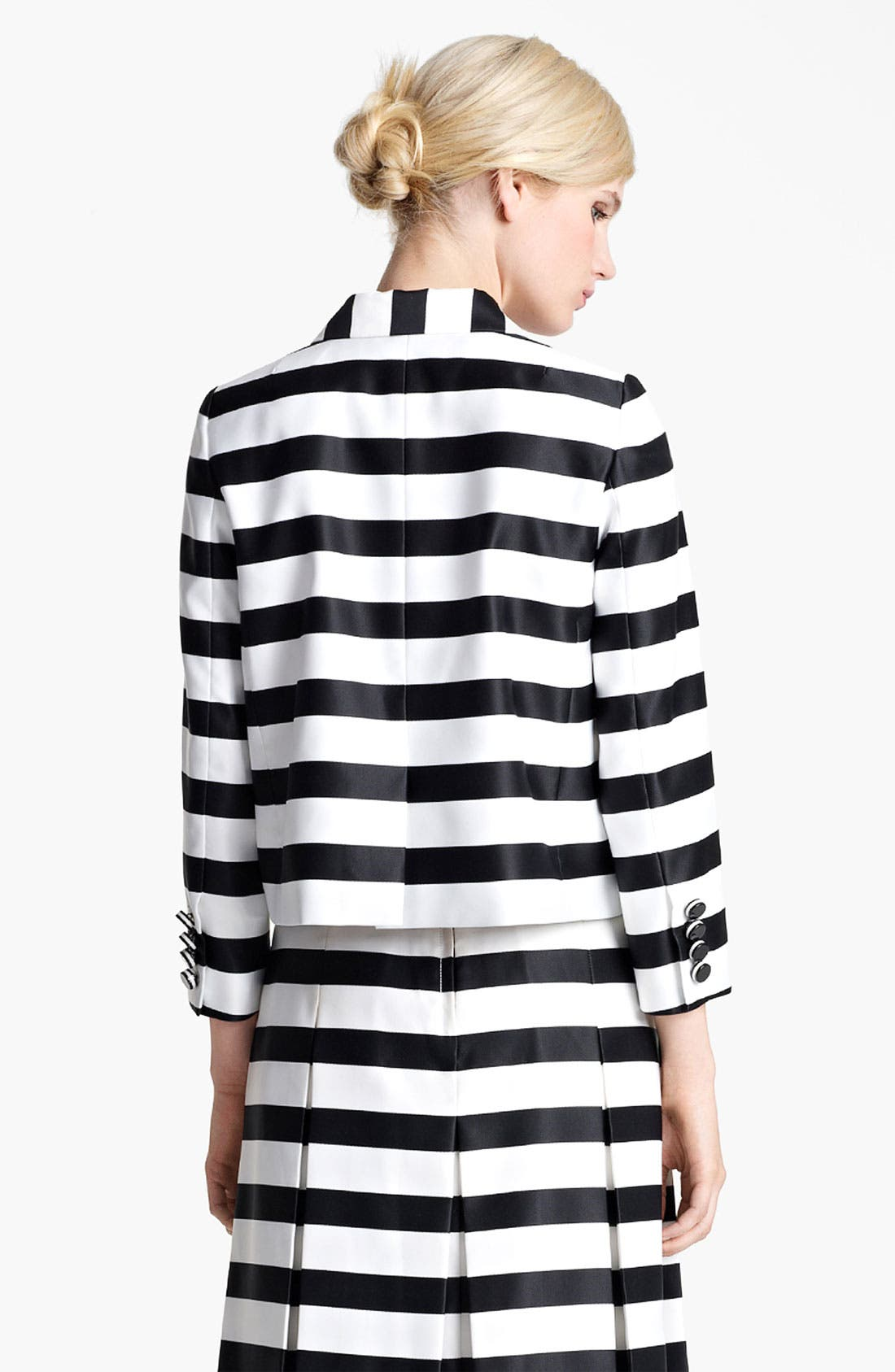 Alternate Image 3  - MARC JACOBS Large Stripe Satin Gabardine Jacket