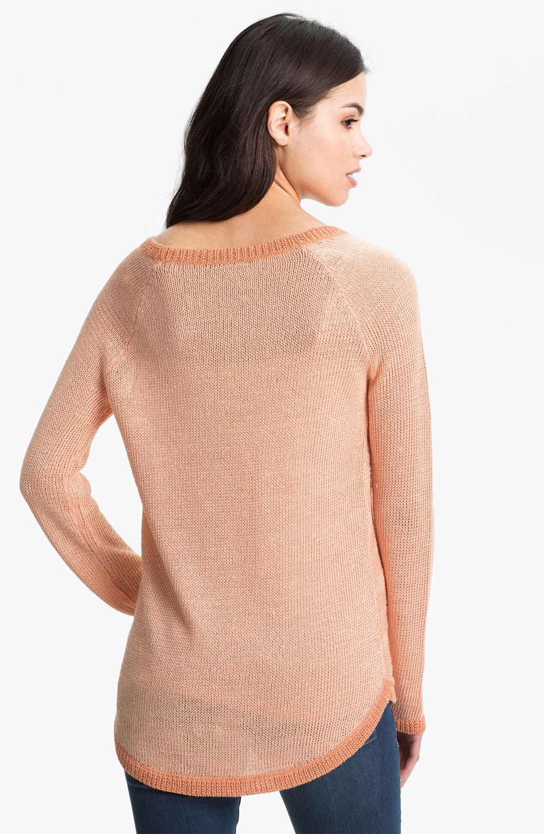 Alternate Image 2  - Trouvé Sheer Stripe Slub Sweater