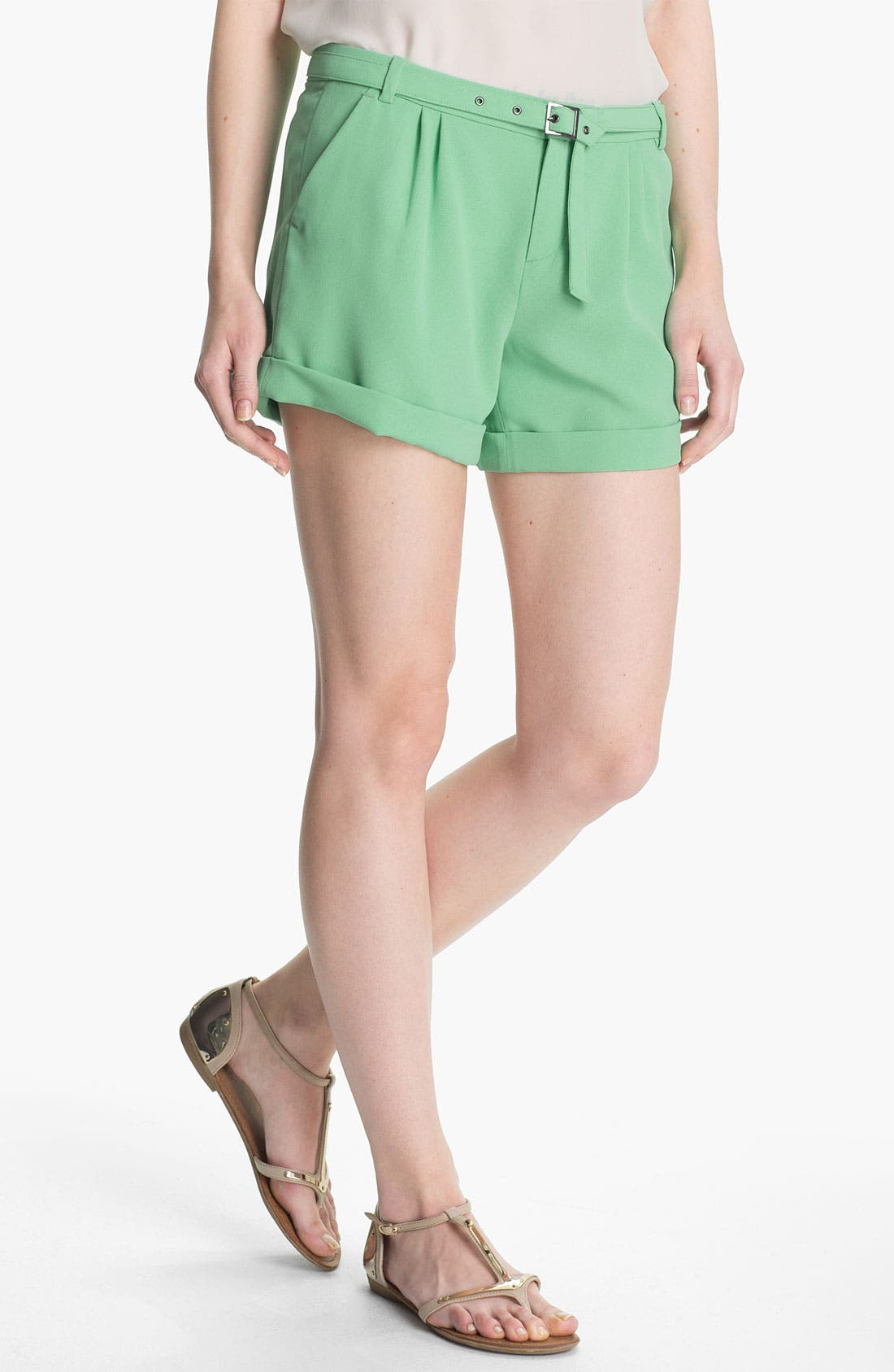 Main Image - Joie 'Concetta' Belted Cuff Shorts