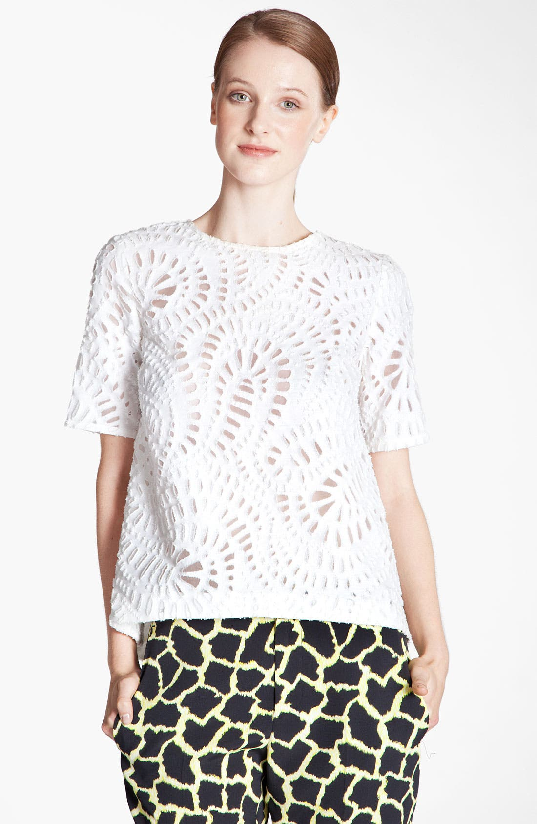 Alternate Image 1 Selected - MSGM Paisley Fil Coupe Top